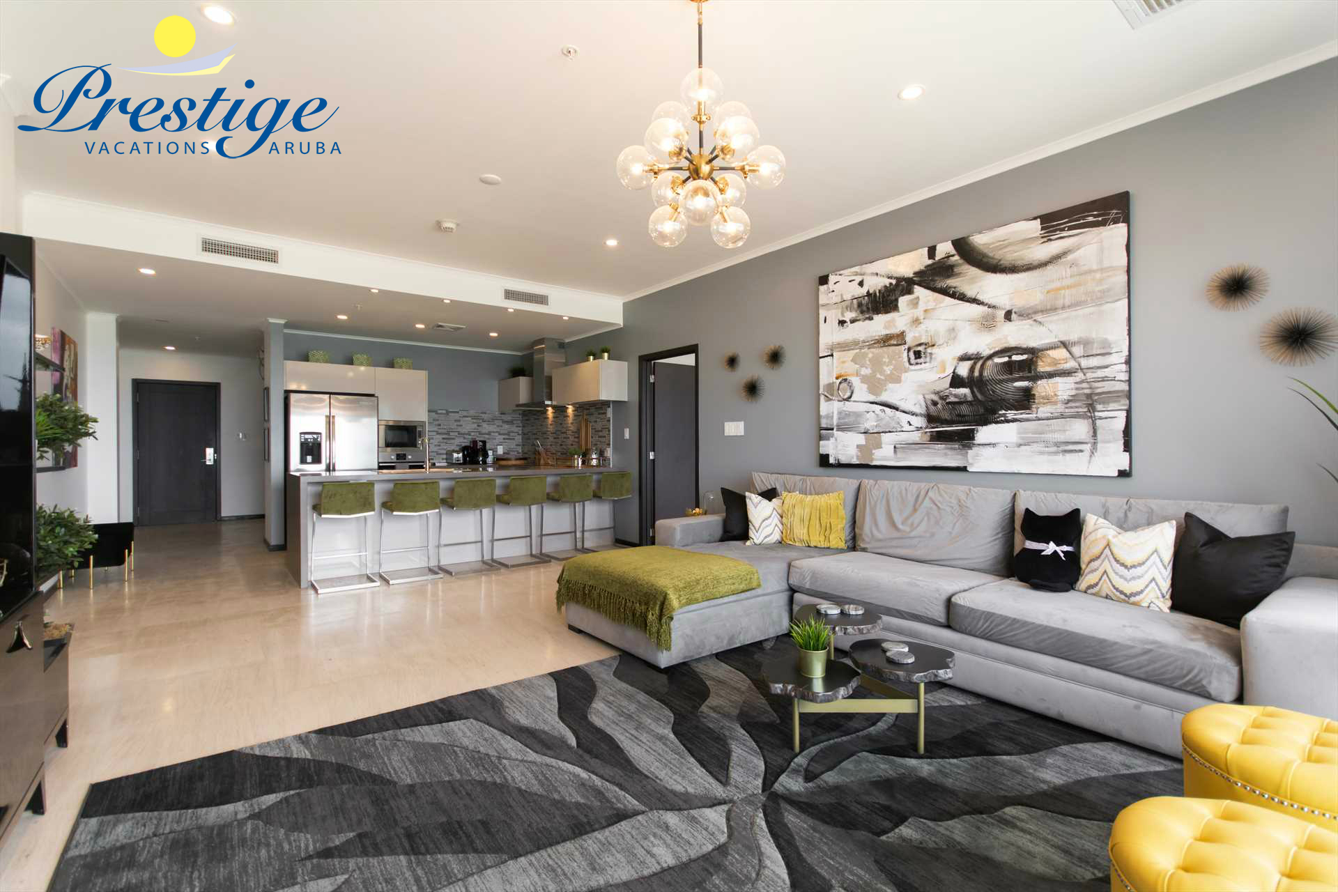 Another view of your spacious and chic living area