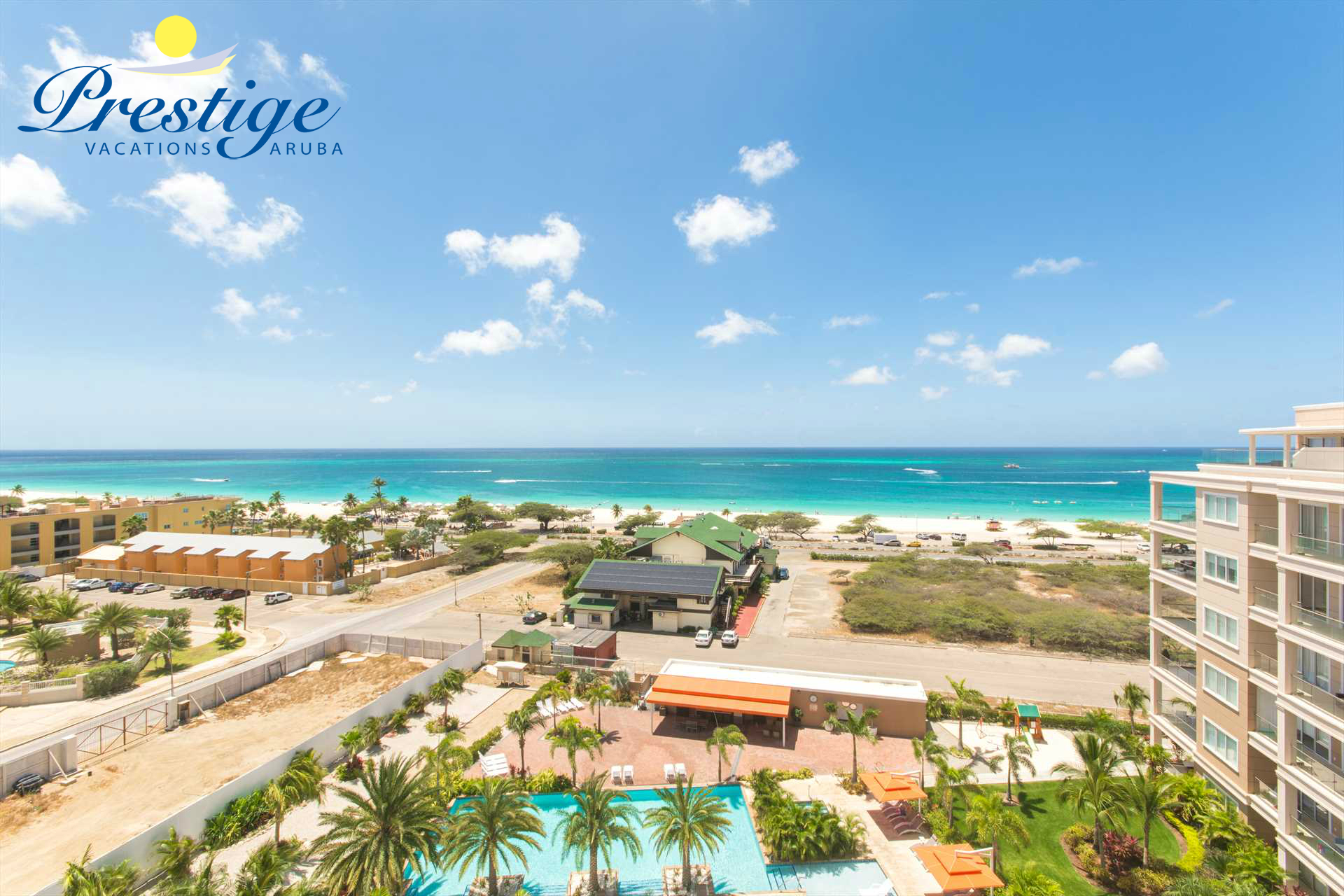 Relax and indulge in the mesmerizing views of Eagle Beach, just a few steps away!