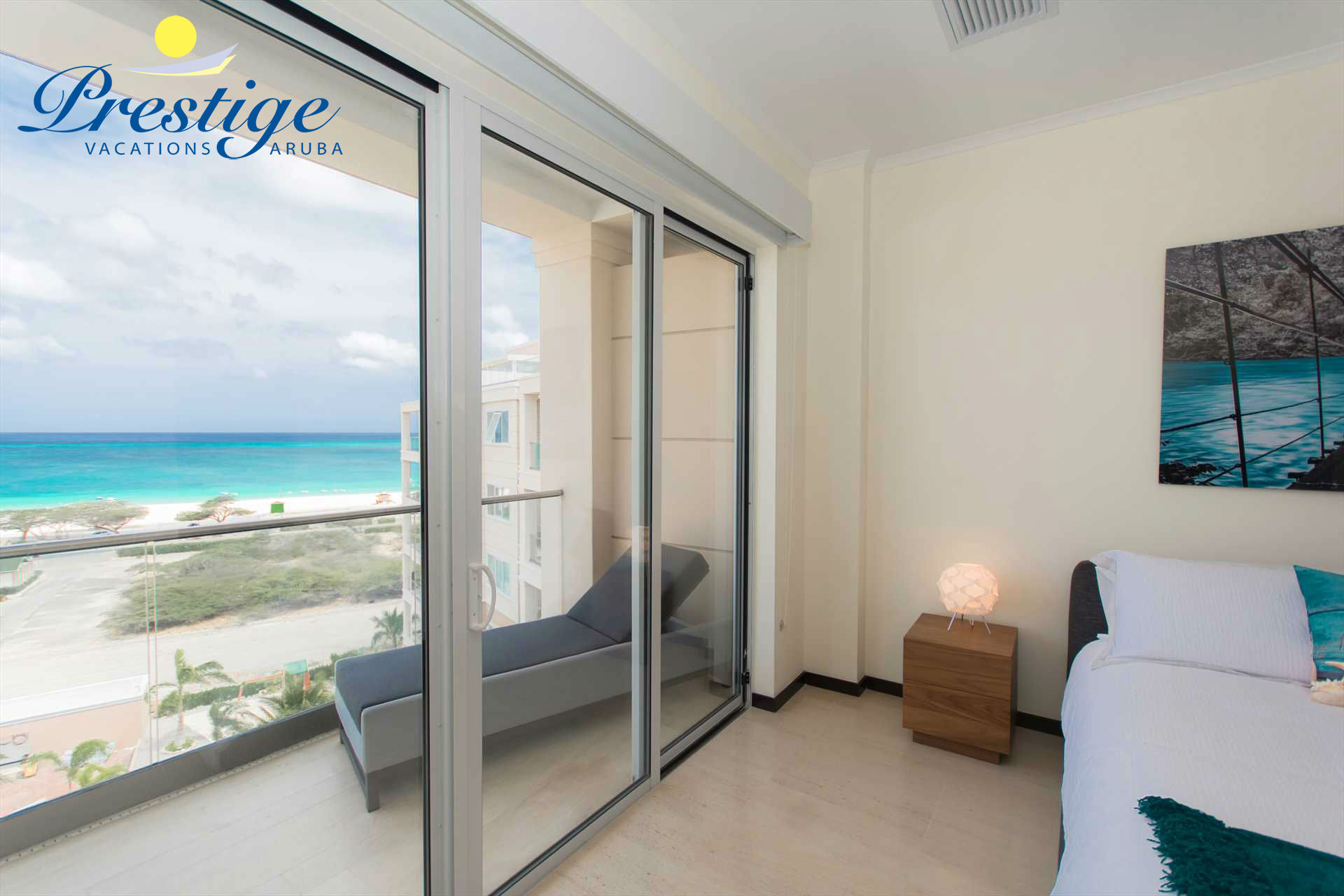 Master bedroom with access to balcony with stunning views