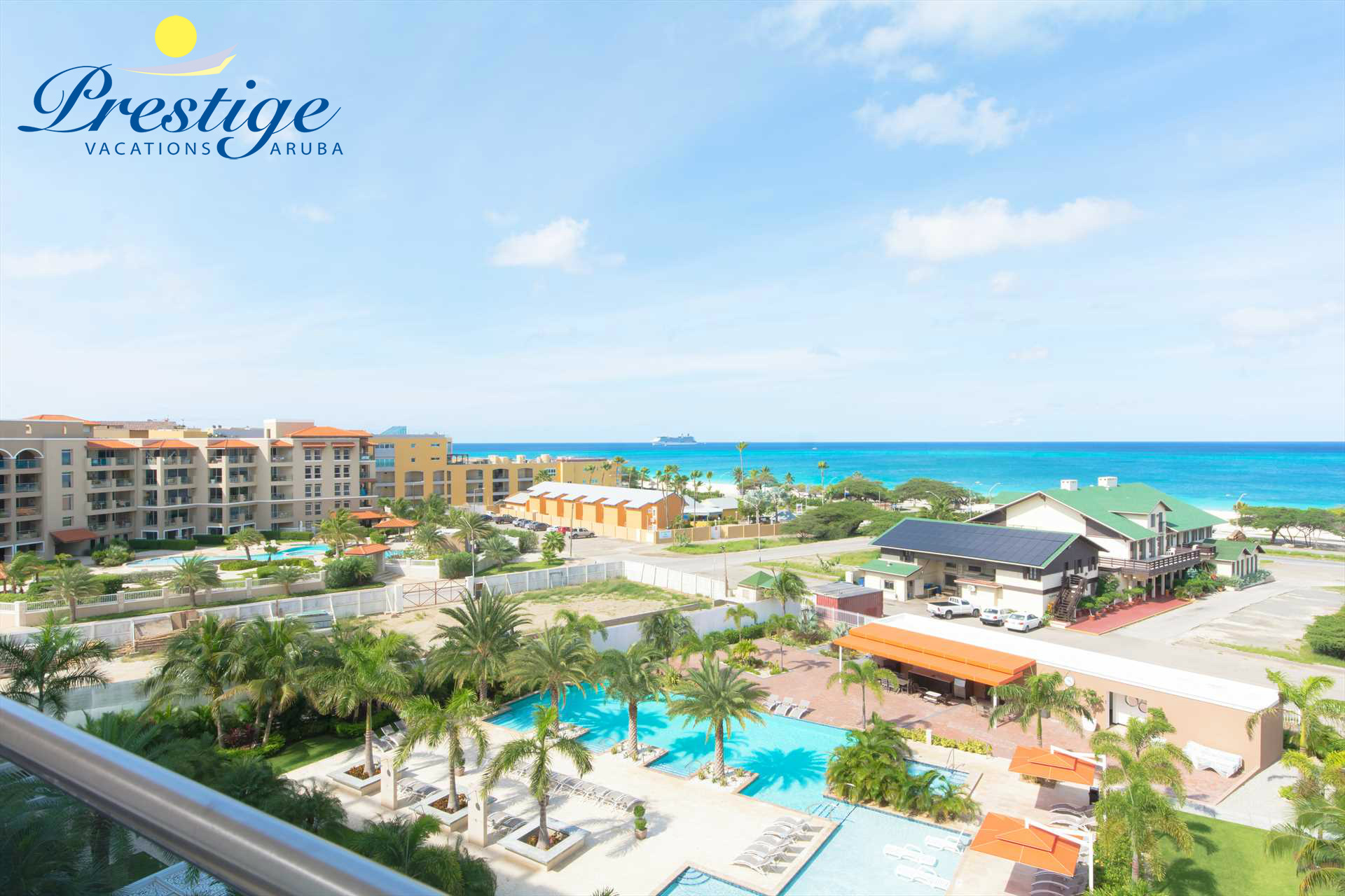 Your Eagle Beach view from the Coastal View Two-bedroom condo at LeVent Beach Resort Aruba!
