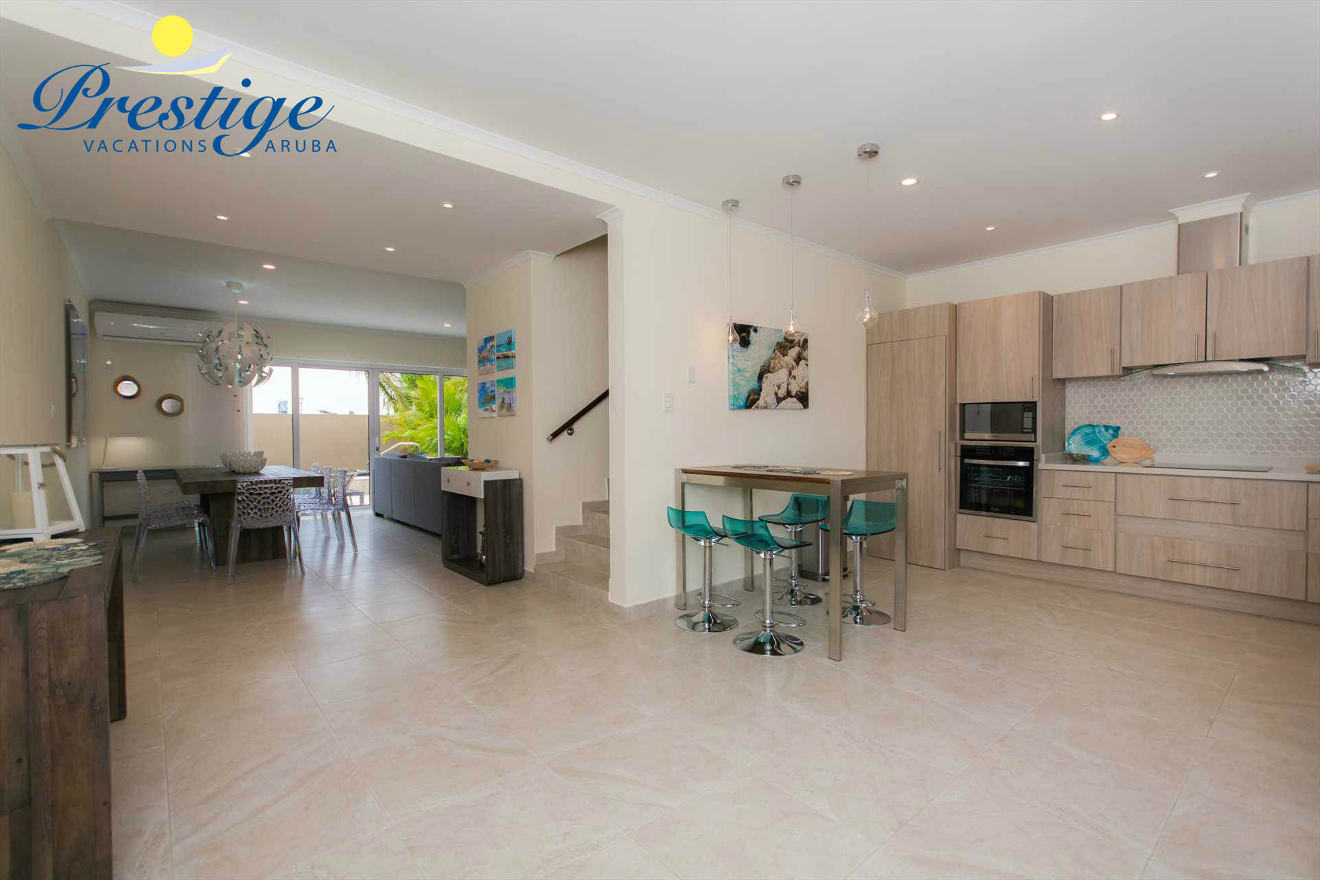 Your spacious 3-level vacation rental completed with island beach decor