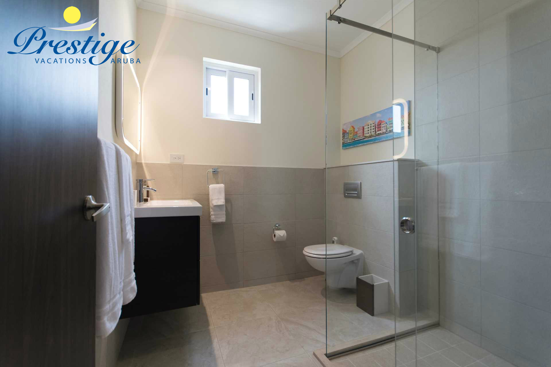 The master en-suite bathroom with a large shower
