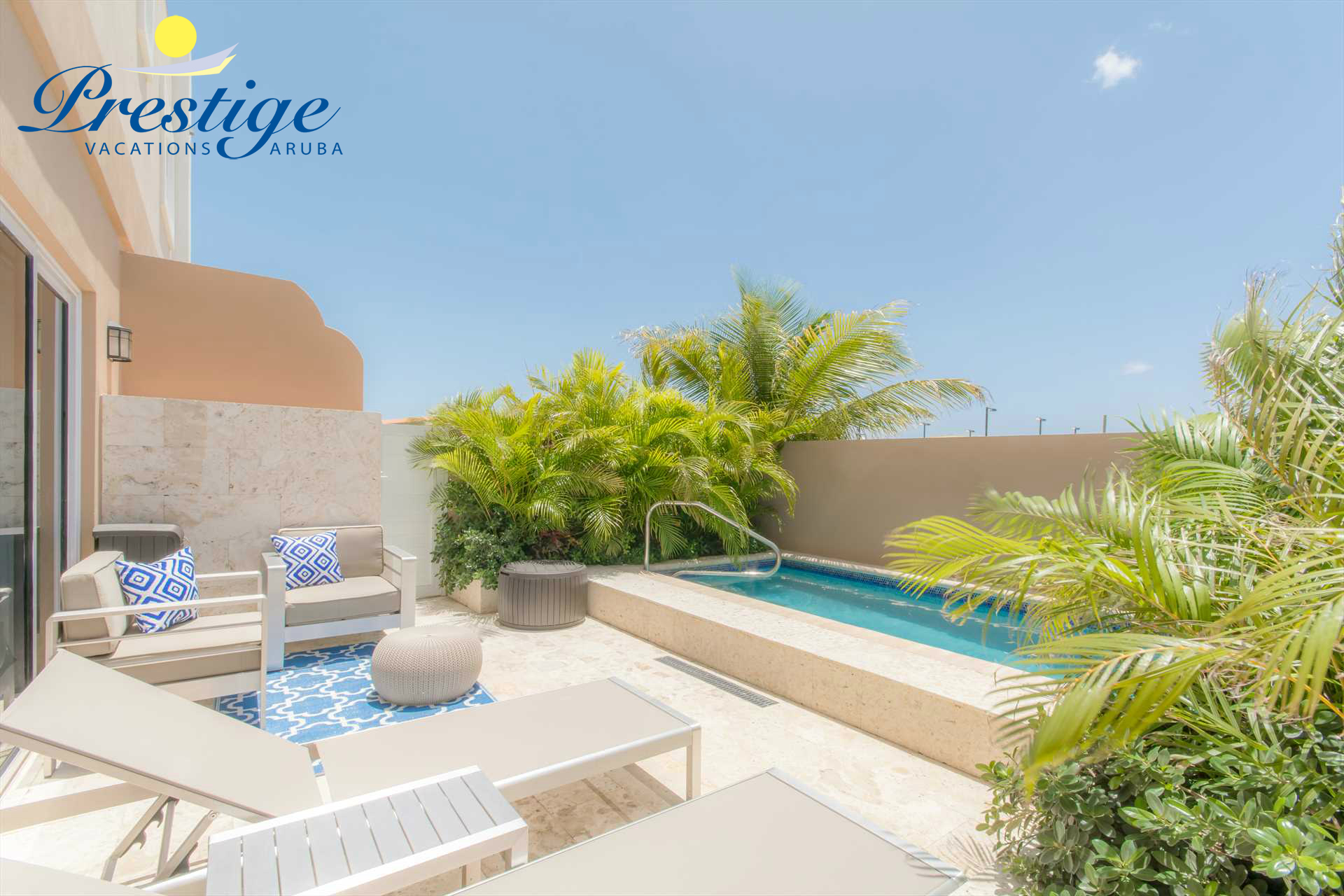 Welcome to your Ipanema Vibes Two-bedroom townhome at LeVent Beach Resort Aruba