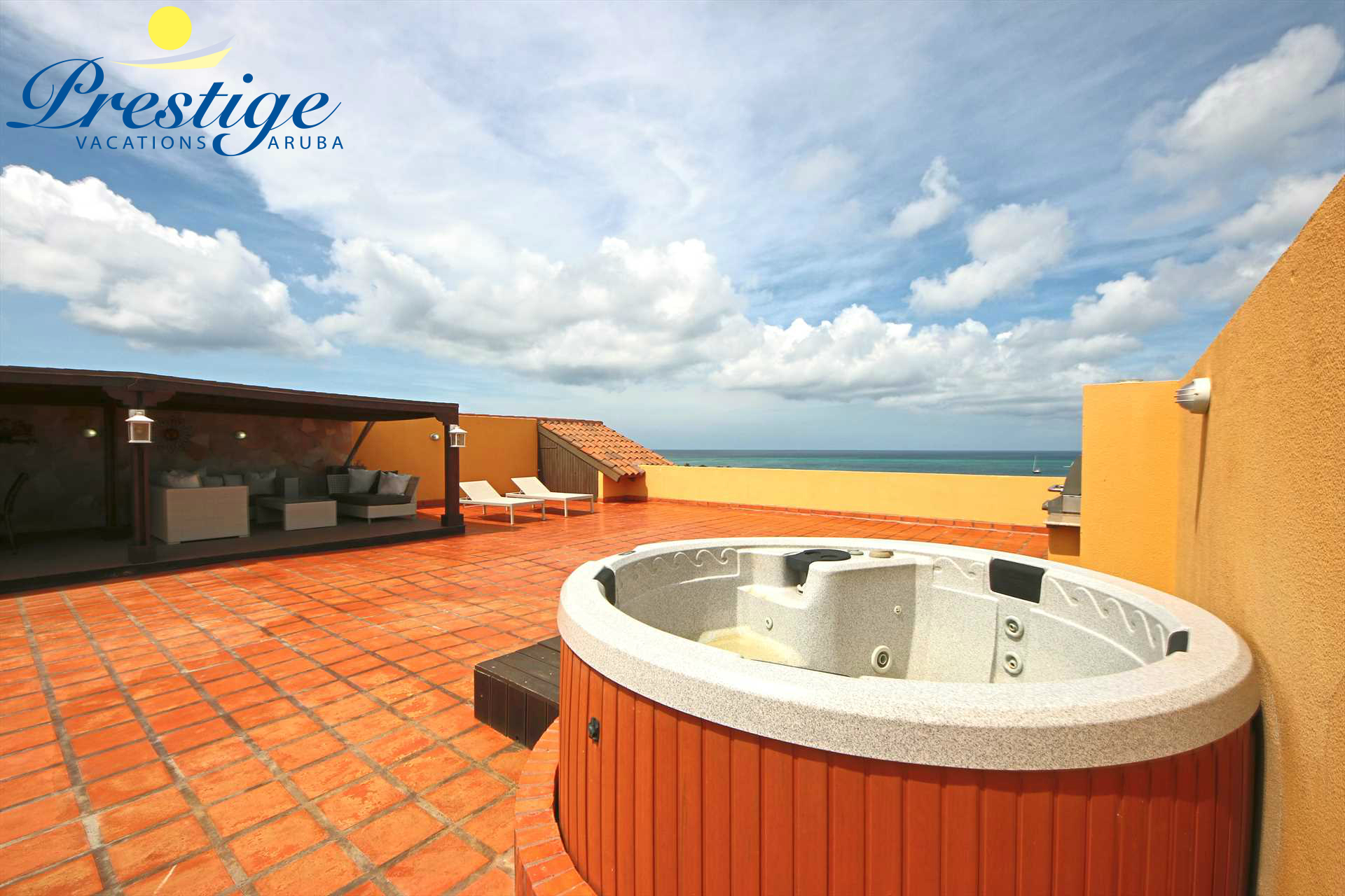 The best roof terrace in Oceania Deluxe Beachfront Condo resort