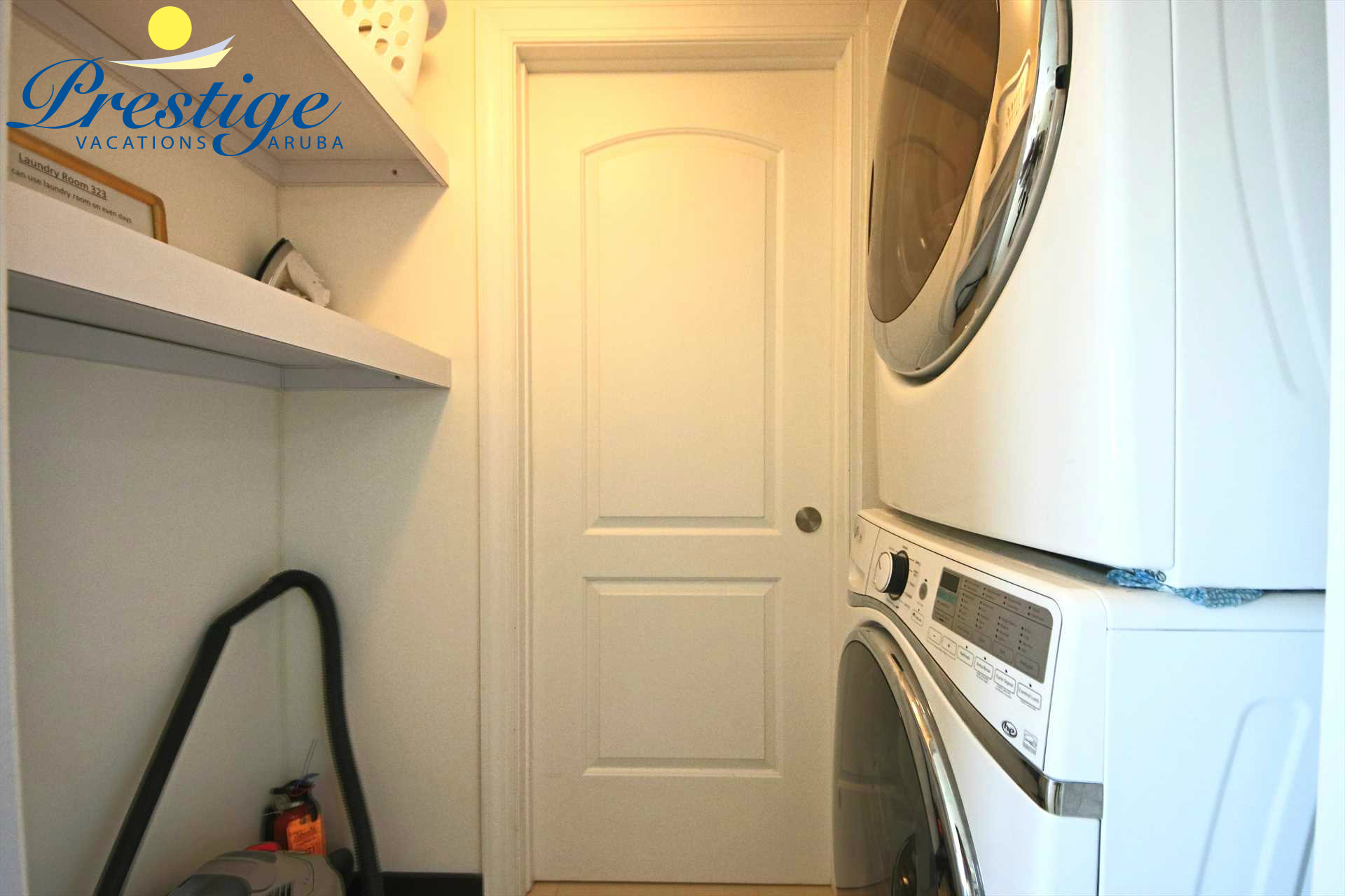 Washer/dryer facility shared on alternate days with the adjacent condo