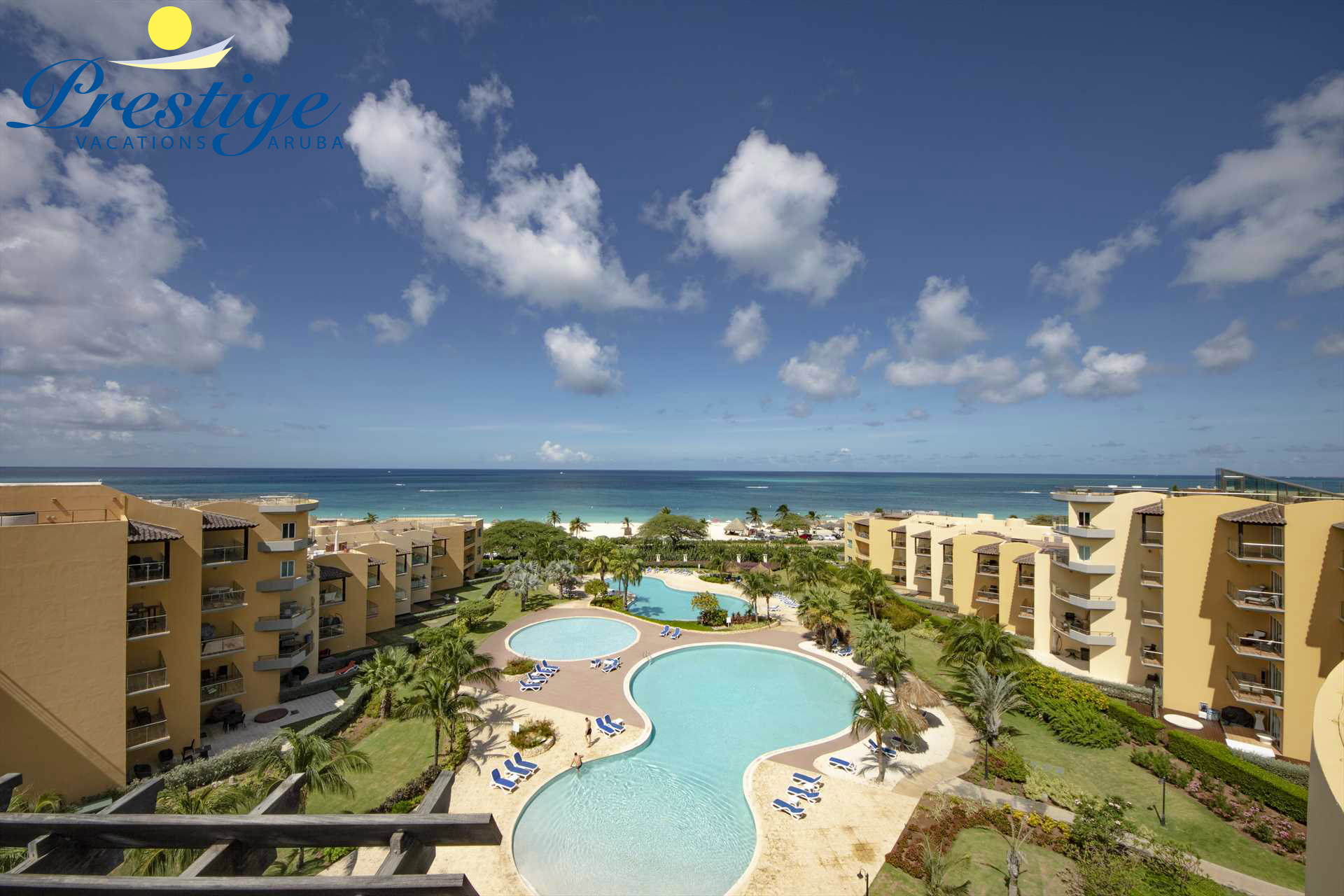 Welcome to your Best View Penthouse Four-bedroom condo at Eagle Beach