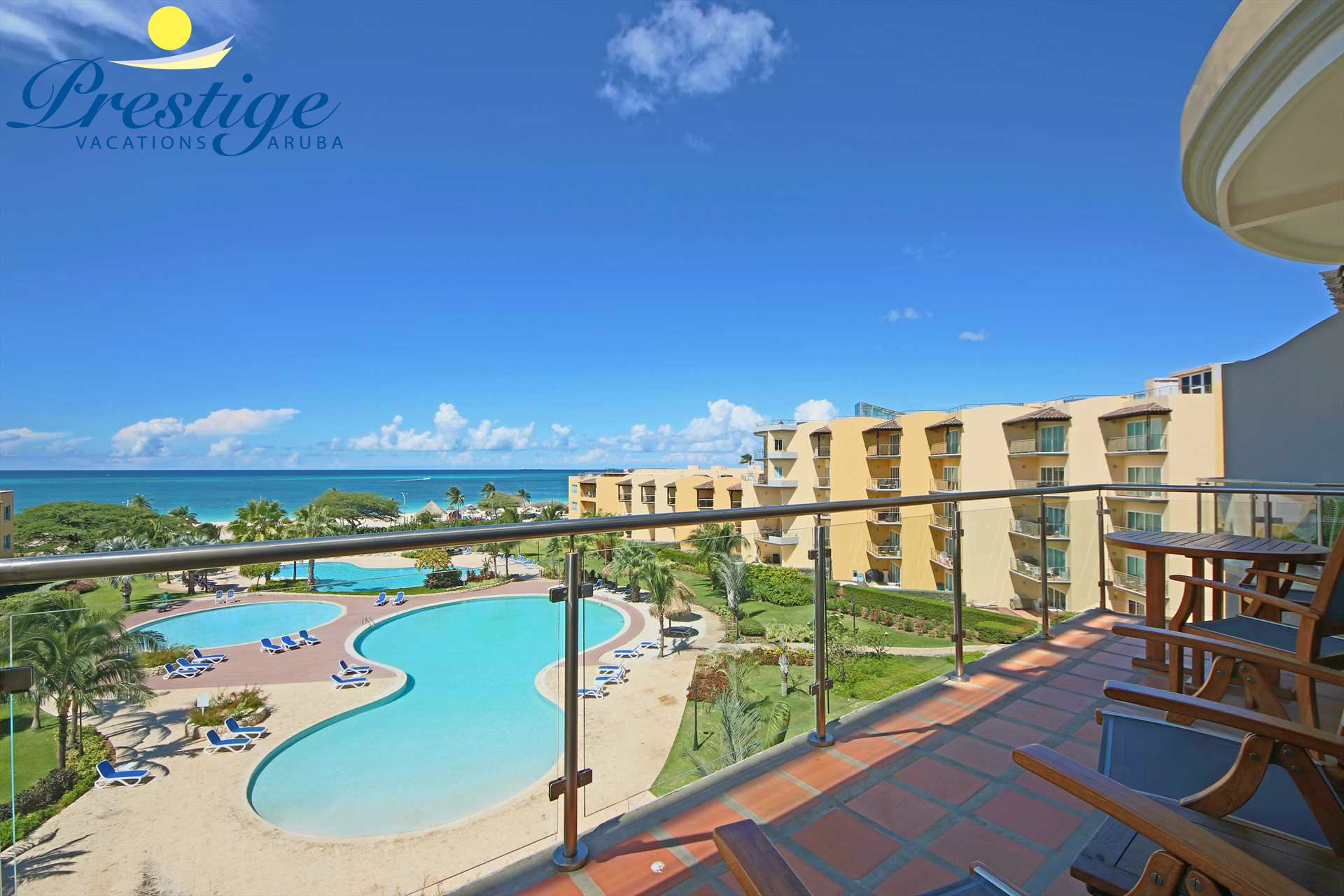 Sit, relax and enjoy the stunning ocean and resort pool views