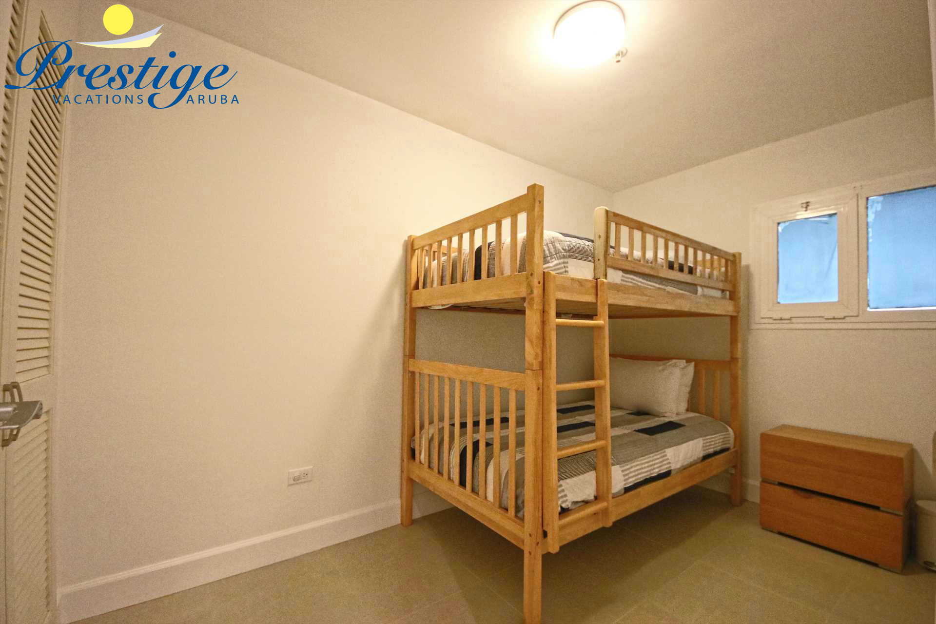 Fourth bedroom with 2 twin-size bunk beds (only one is shown here)