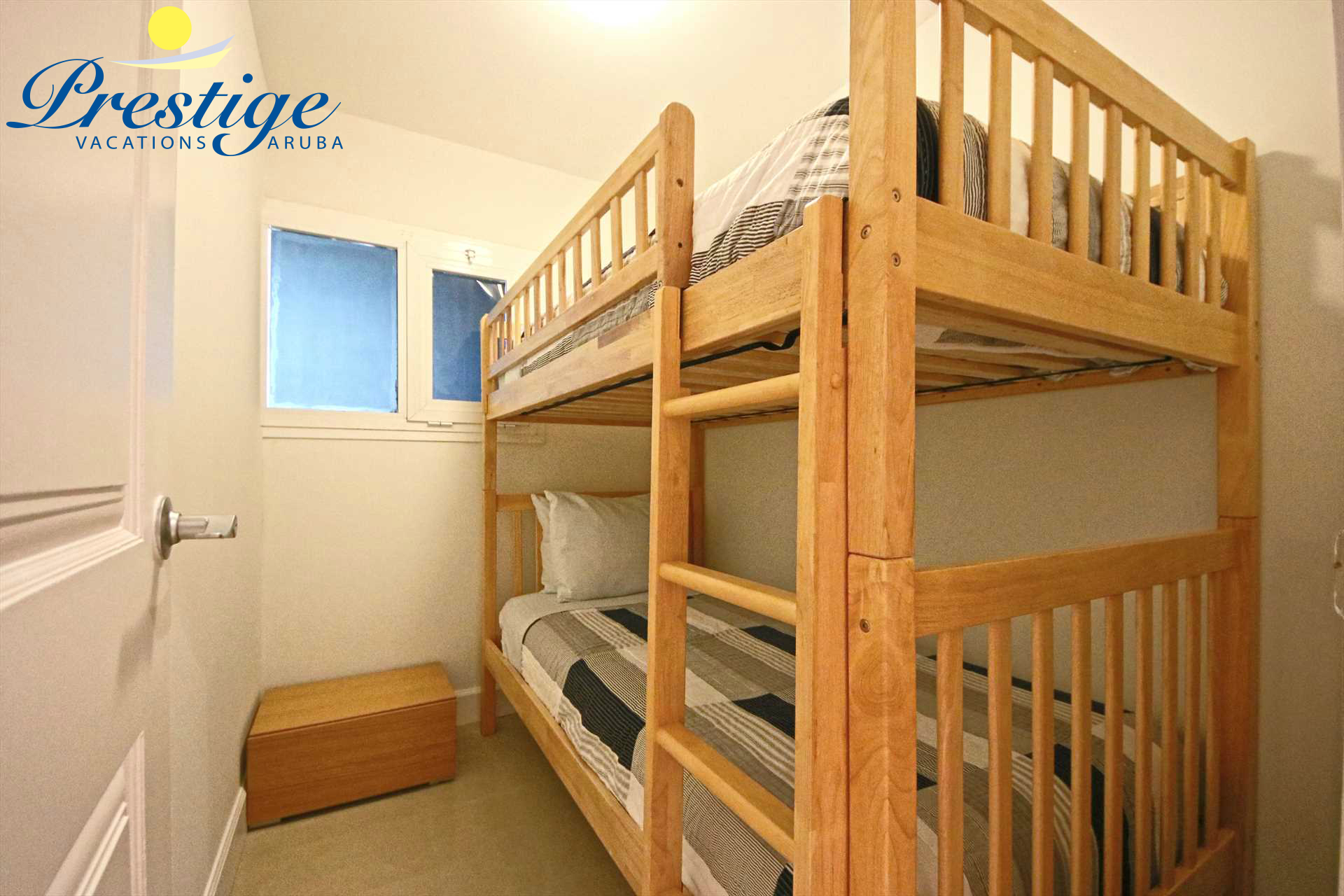 Fourth bedroom with 2 twin-size bunk beds (the other one is shown here)