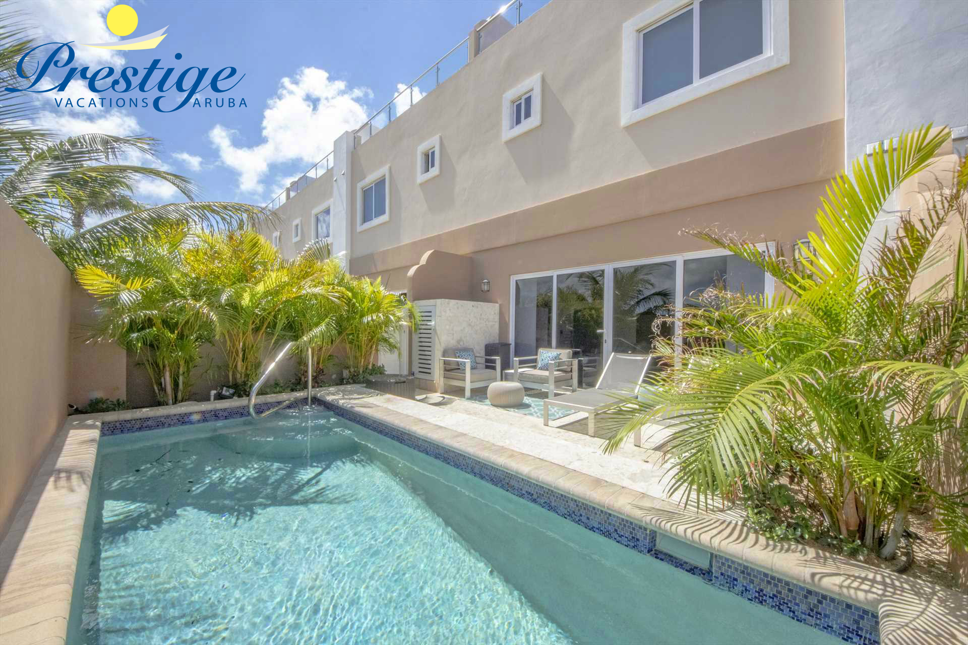 Welcome to your Happy Island Two-bedroom townhome at LeVent Beach Resort Aruba