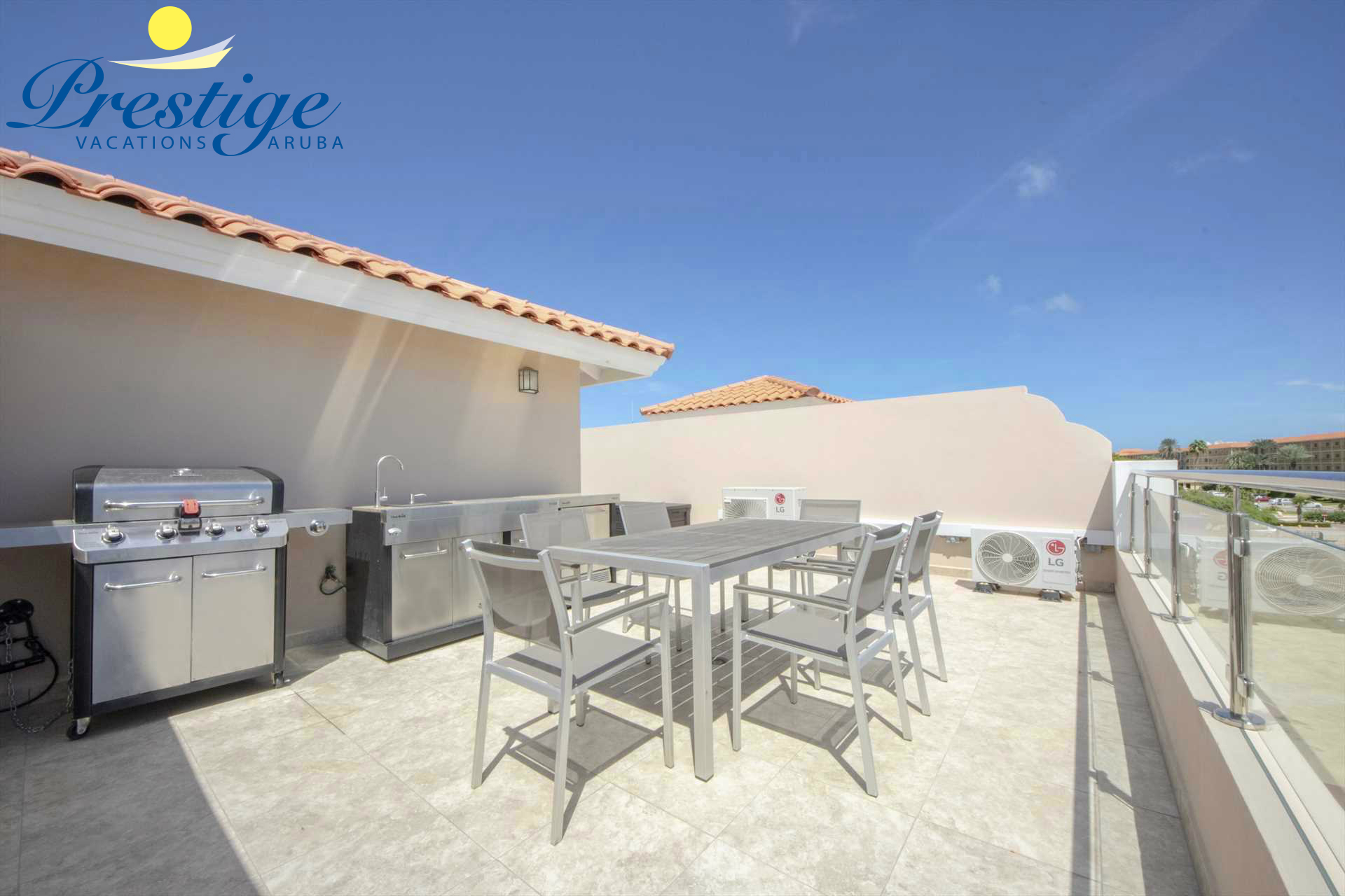 Your own BBQ-grill with an outdoor kitchen plus dining table to enjoy your culinary delights
