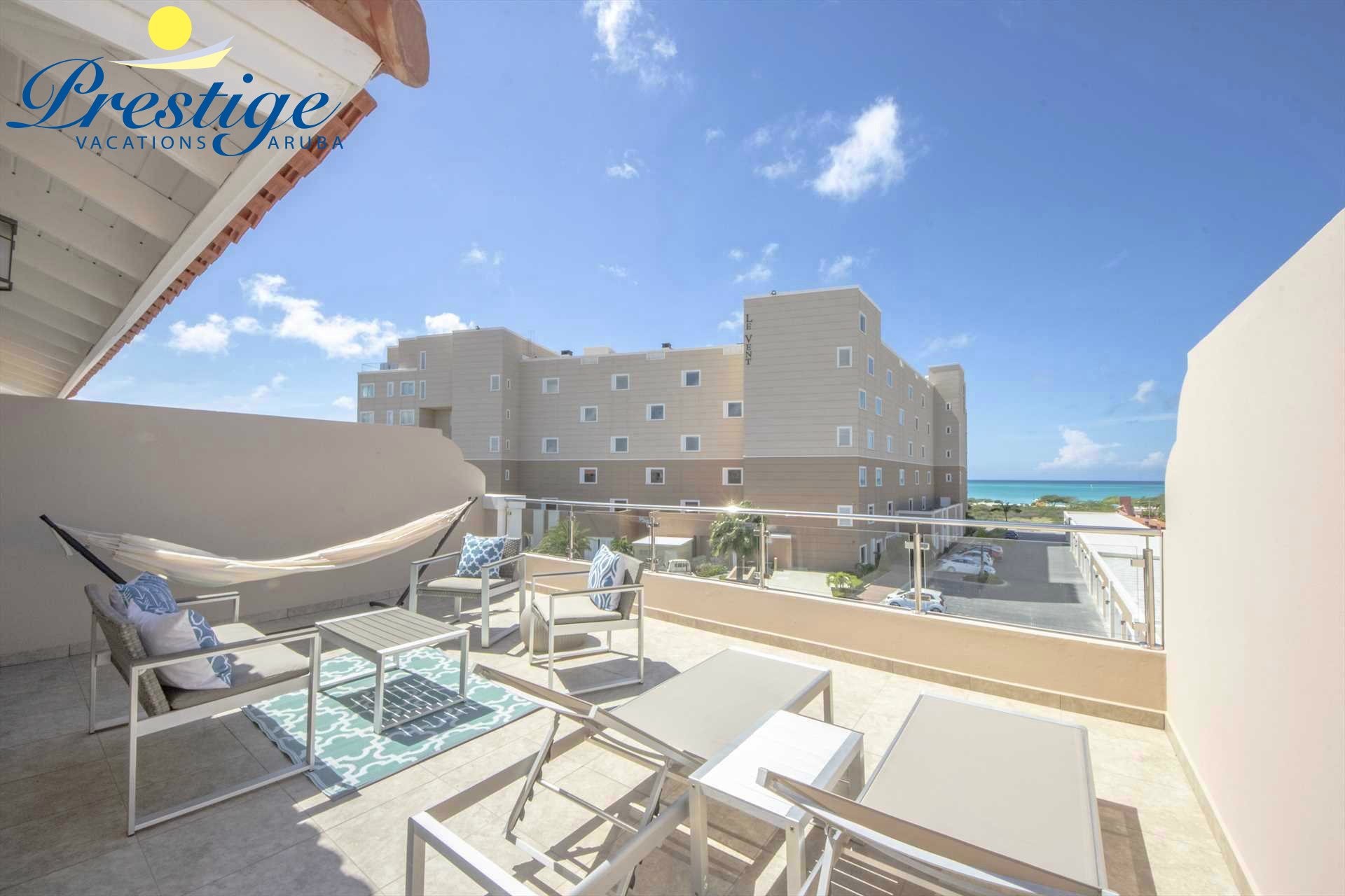 Your partial ocean view from your private rooftop terrace