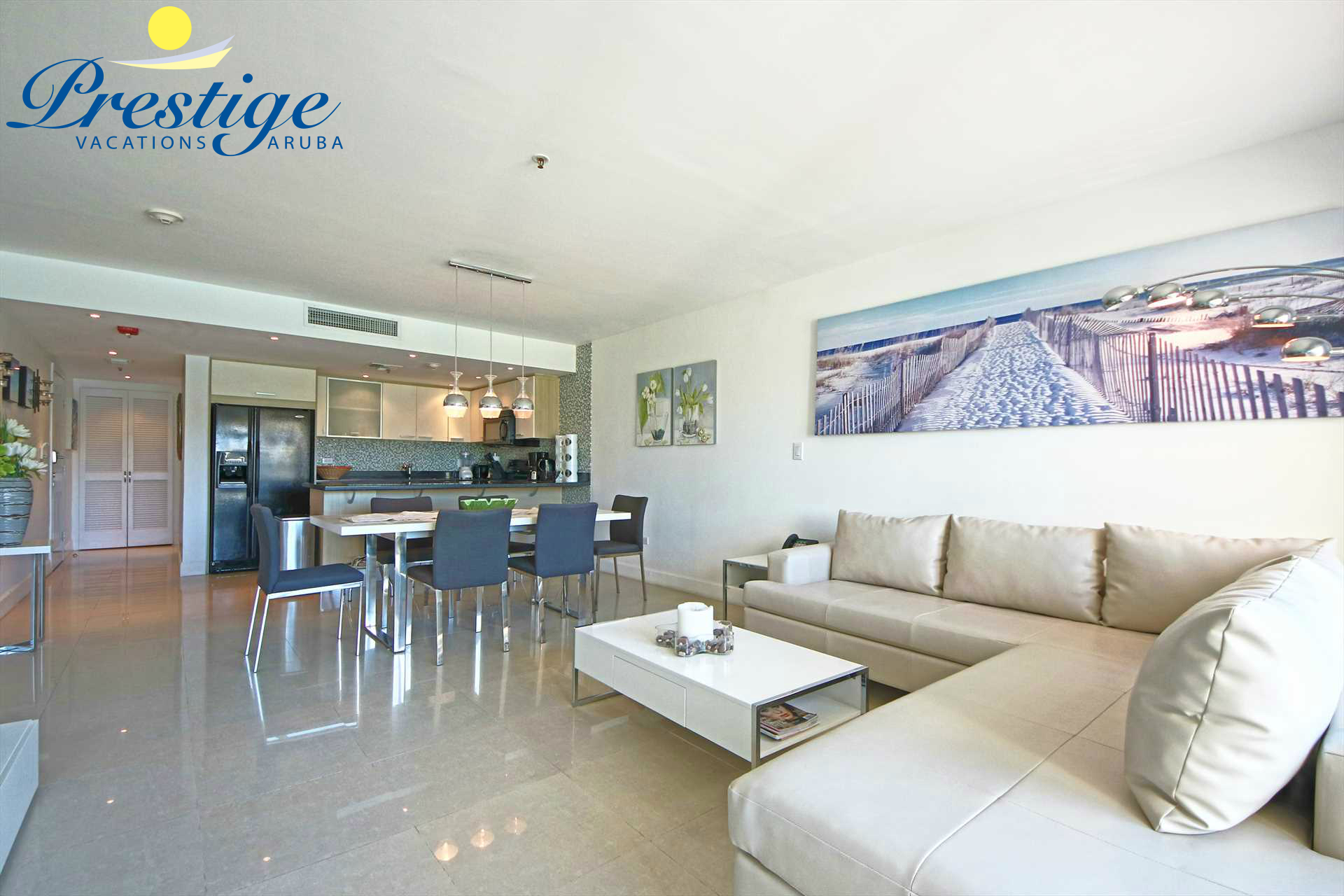 Full view of your elegantly furnished vacation condo
