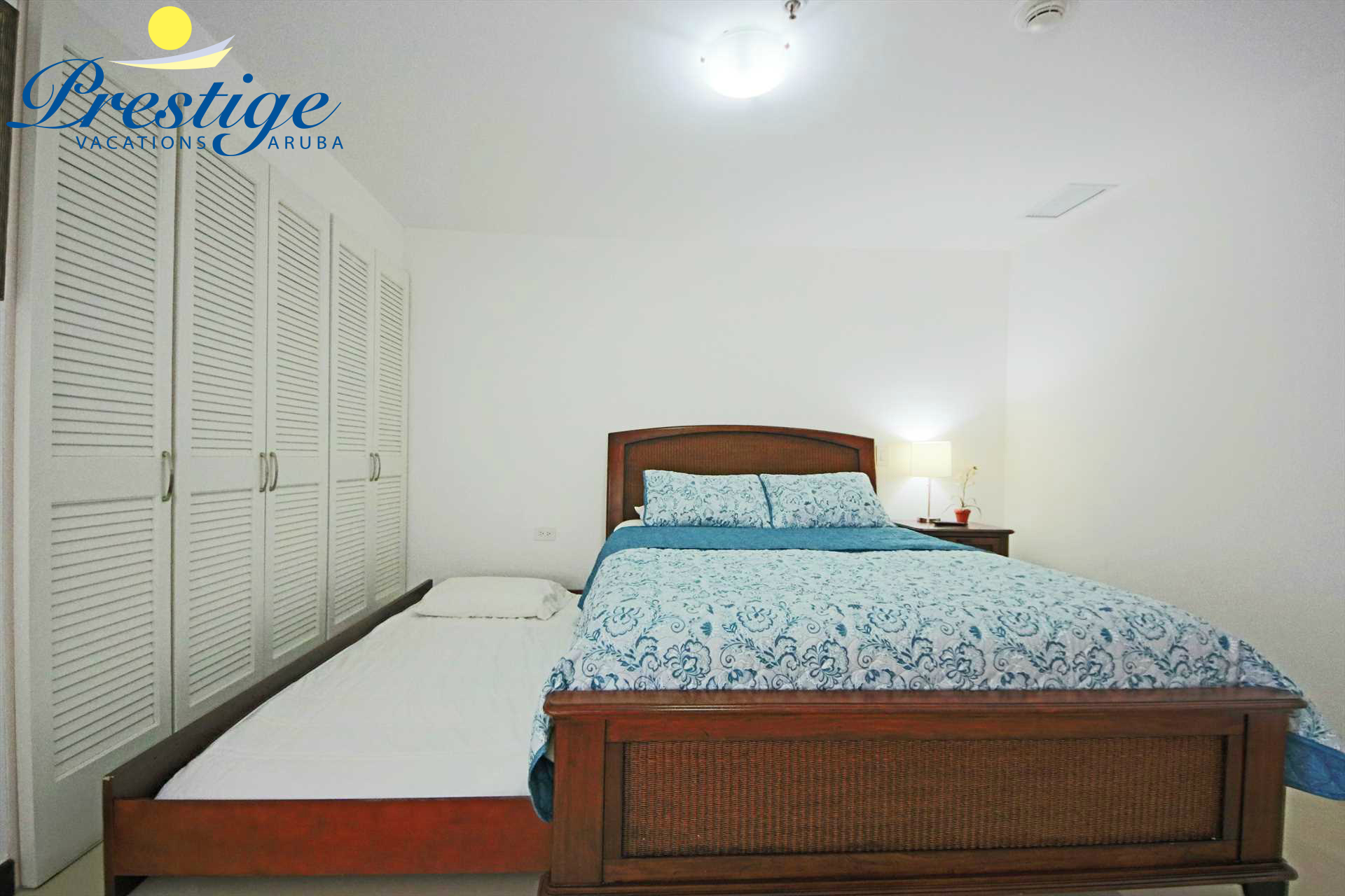 The second bedroom has a queen-size bed plus additionally a twin-size trundle bed