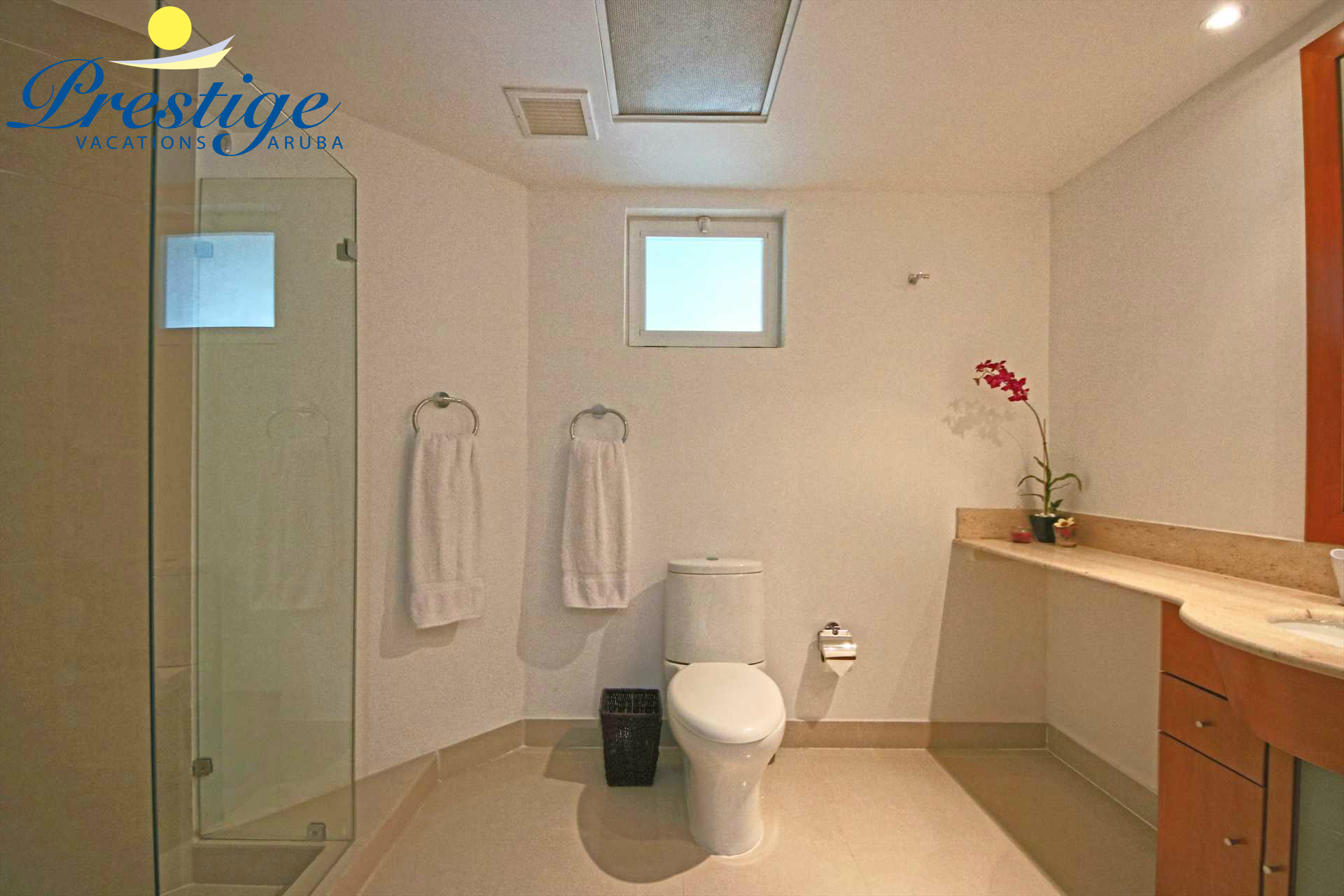 Third bathroom with a shower