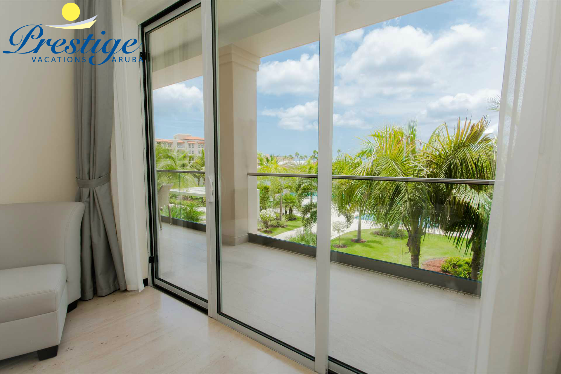 Master bedroom with access to the balcony with luscious views