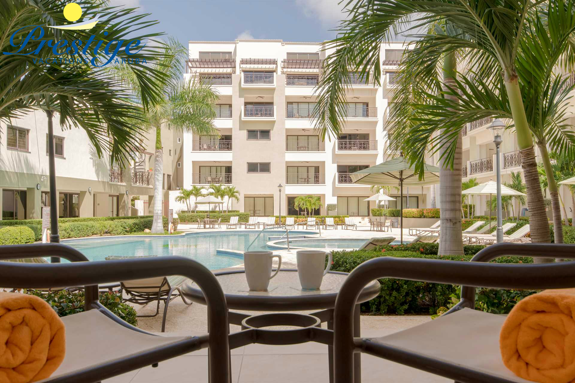 Relaxing days are yours to enjoy during your stay at the Desert Fan Palm One-bedroom condo