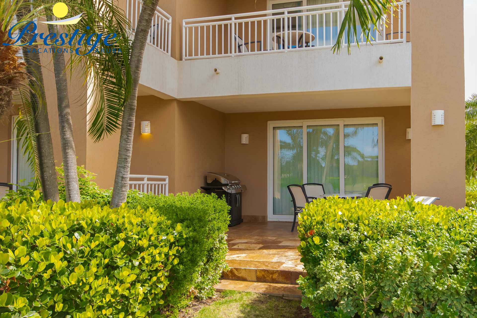 Your private terrace in a relaxing resort environment