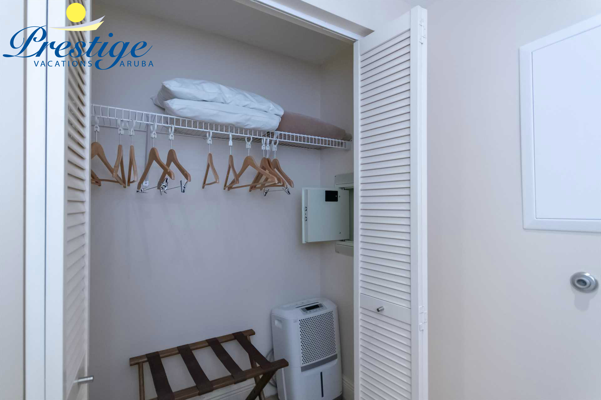 Built-in closet and an in-room code-lock safe