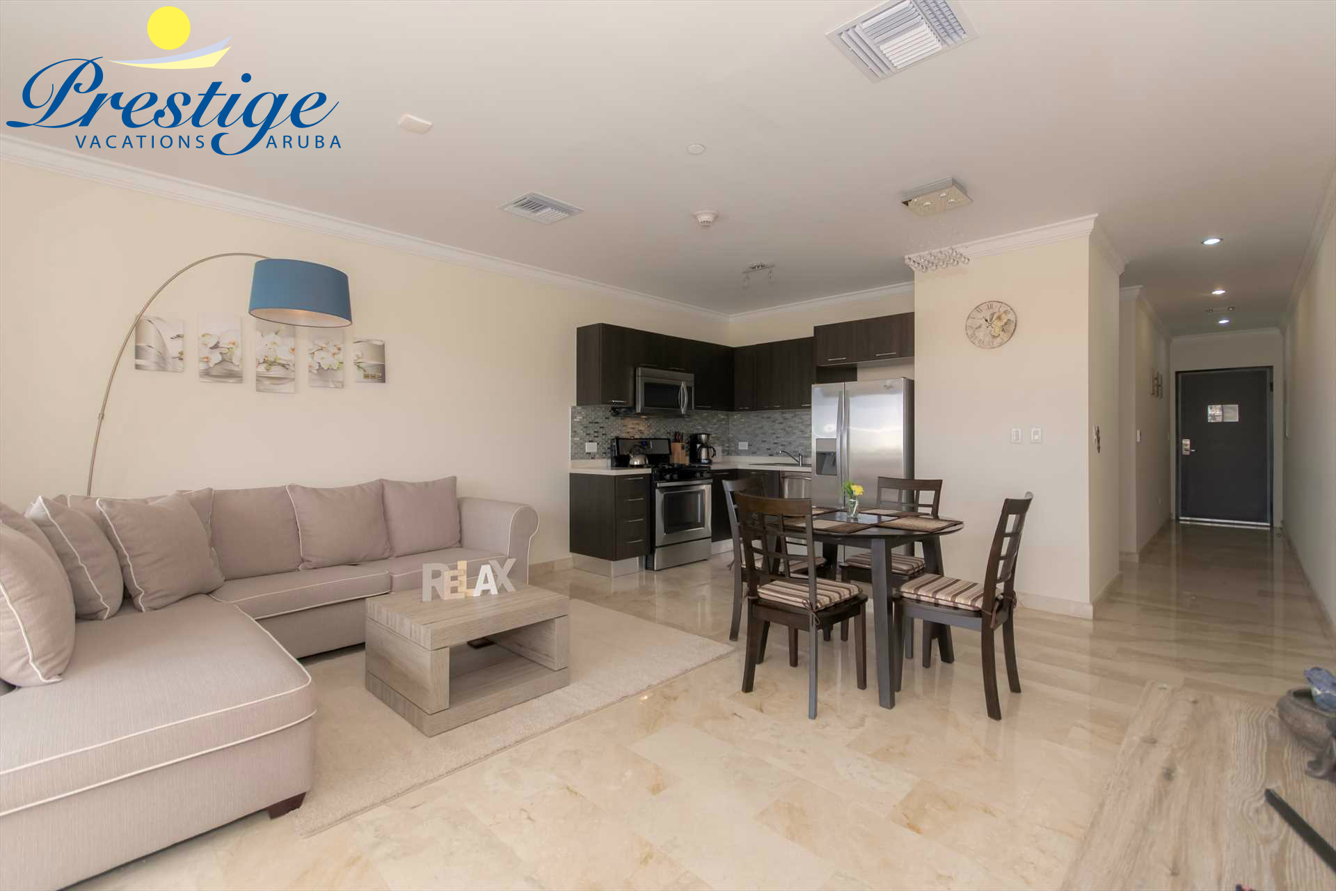 An open plan living area provides for plenty of space to truly enjoy your stay
