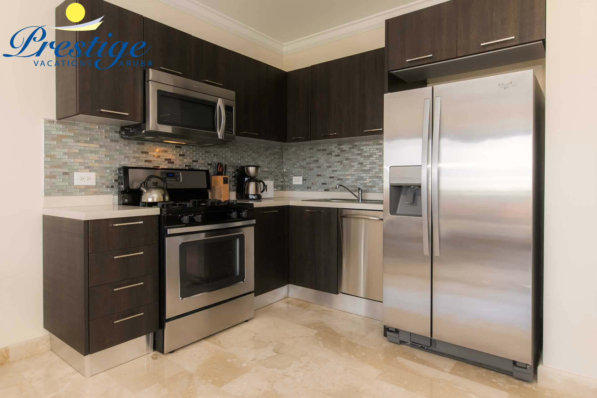 Take advantage of the fully equipped kitchen and prepare delicious meals during your vacation