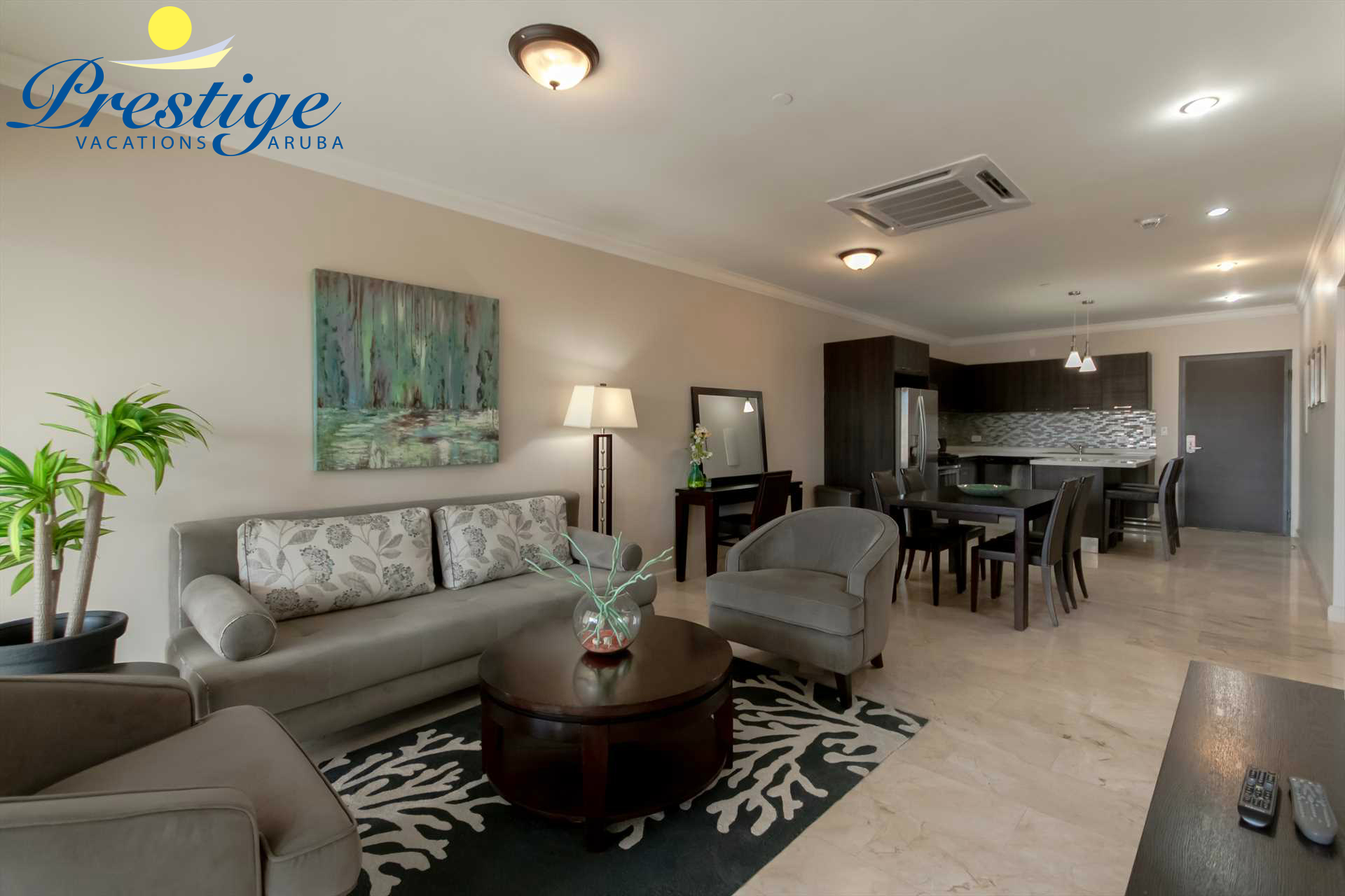 The open plan living area lets you feel right at home