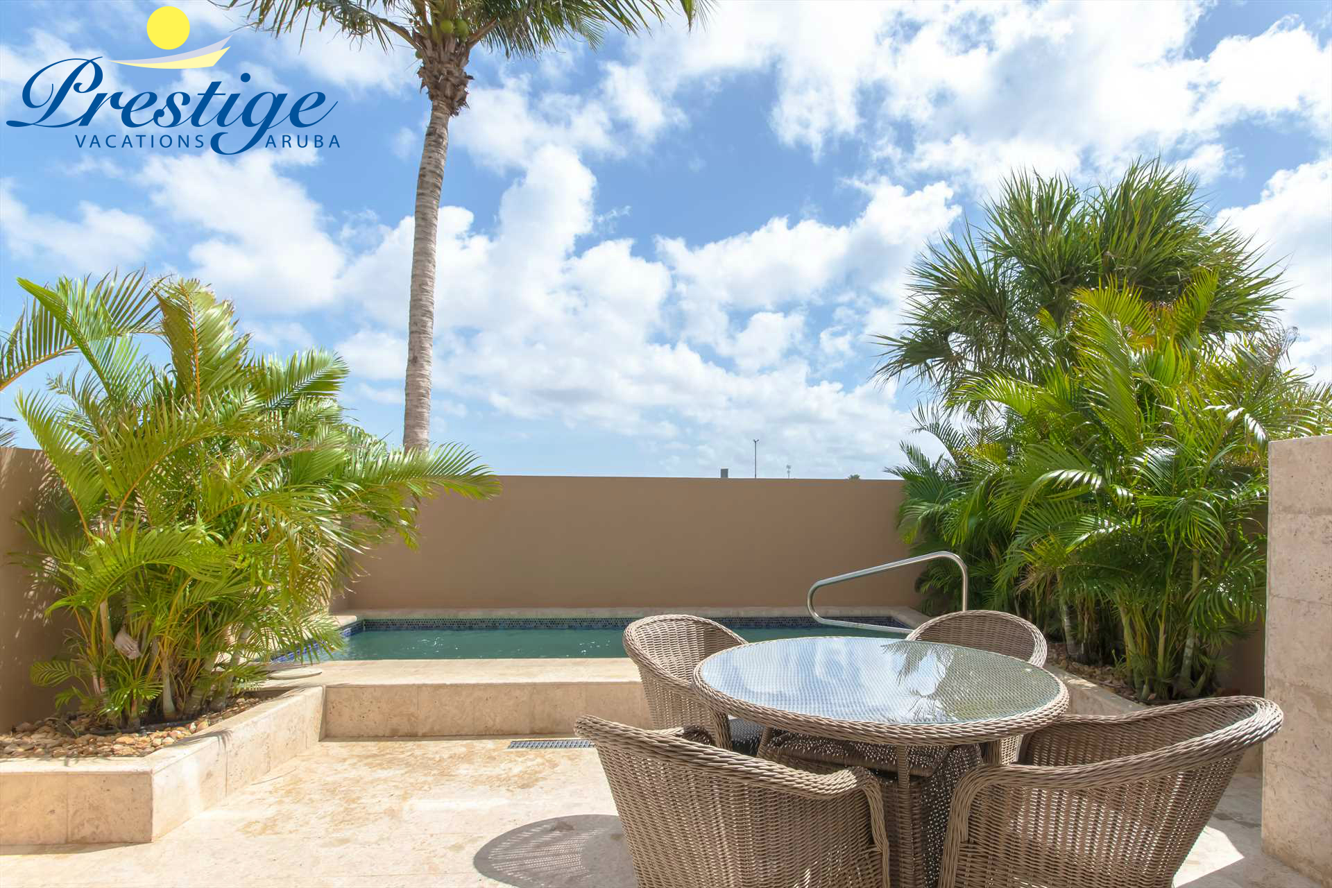 Welcome to your Casa del Sole Two-bedroom townhome at LeVent Beach Resort Aruba