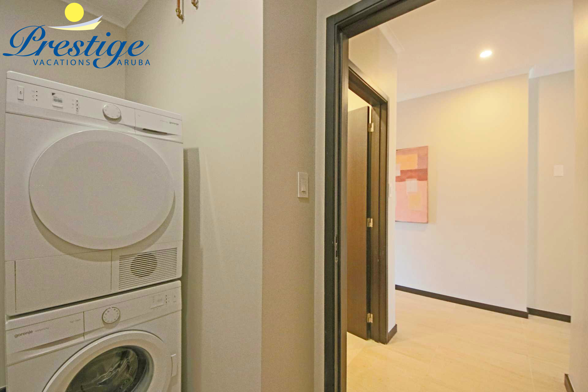 The laundry room with washer and dryer