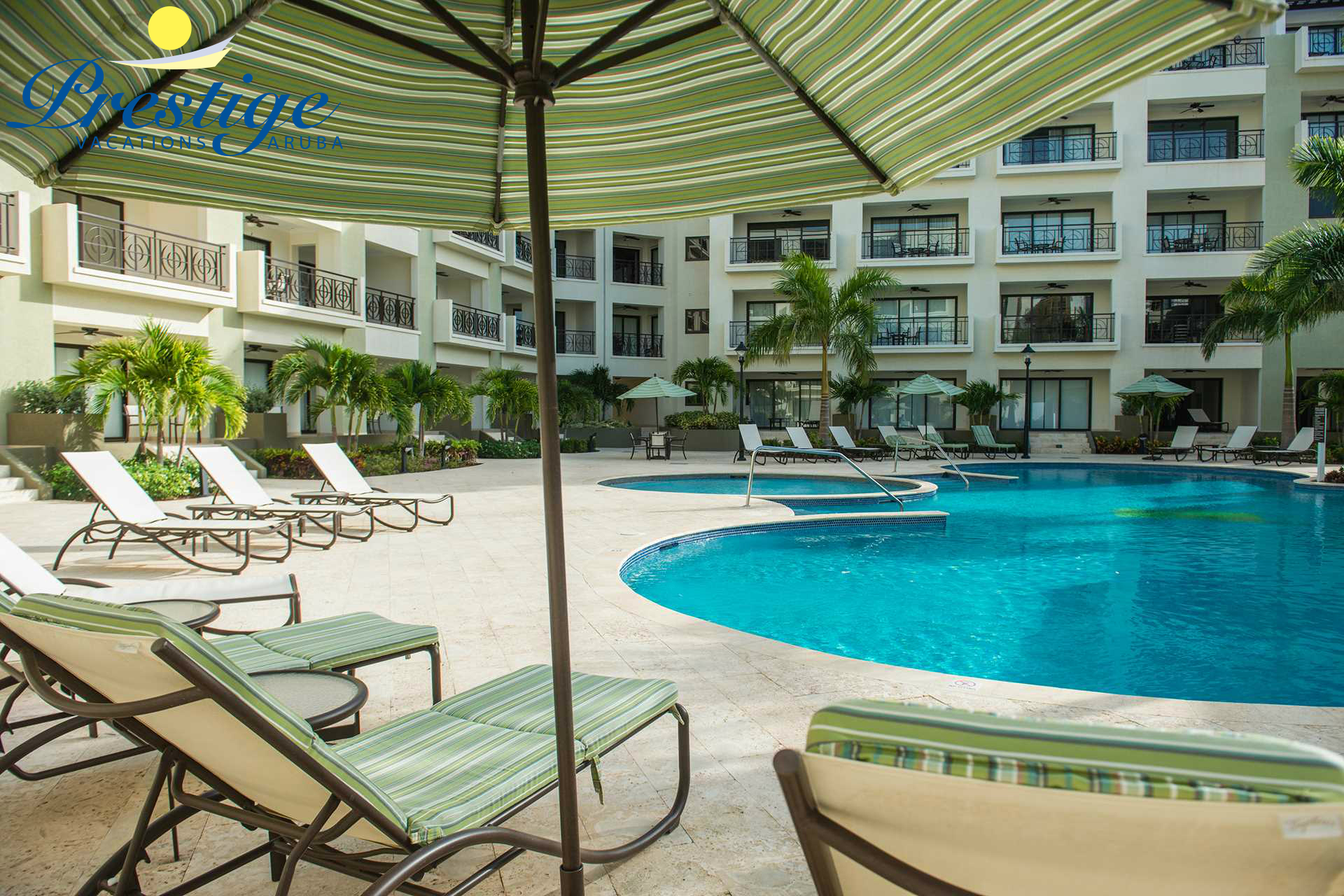 Loungers chairs, pool towels, and parasols are all included during your stay!