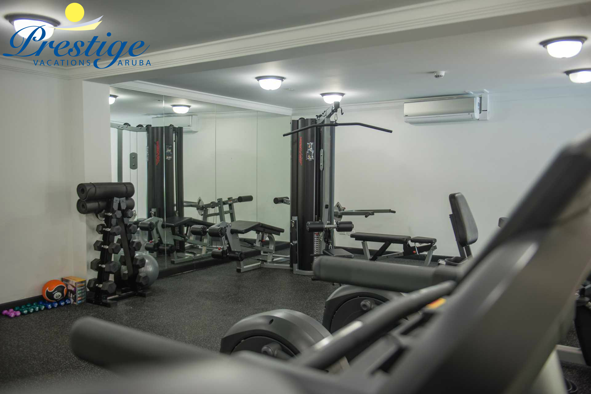 Free use of the Full Air Conditioned Fitness Center for all guests