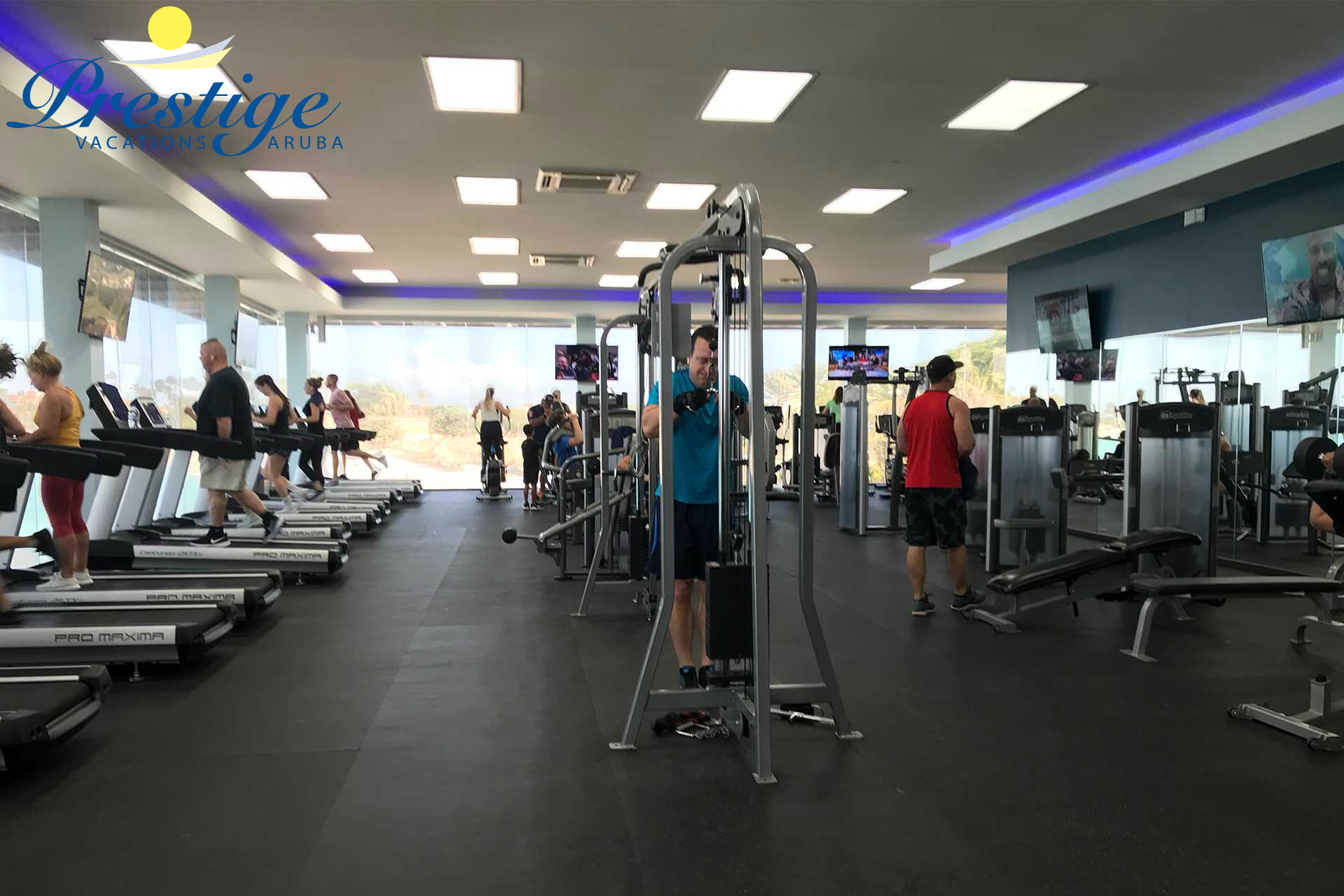 Divi's resort Fitness Center with updated Strength Training Equipment