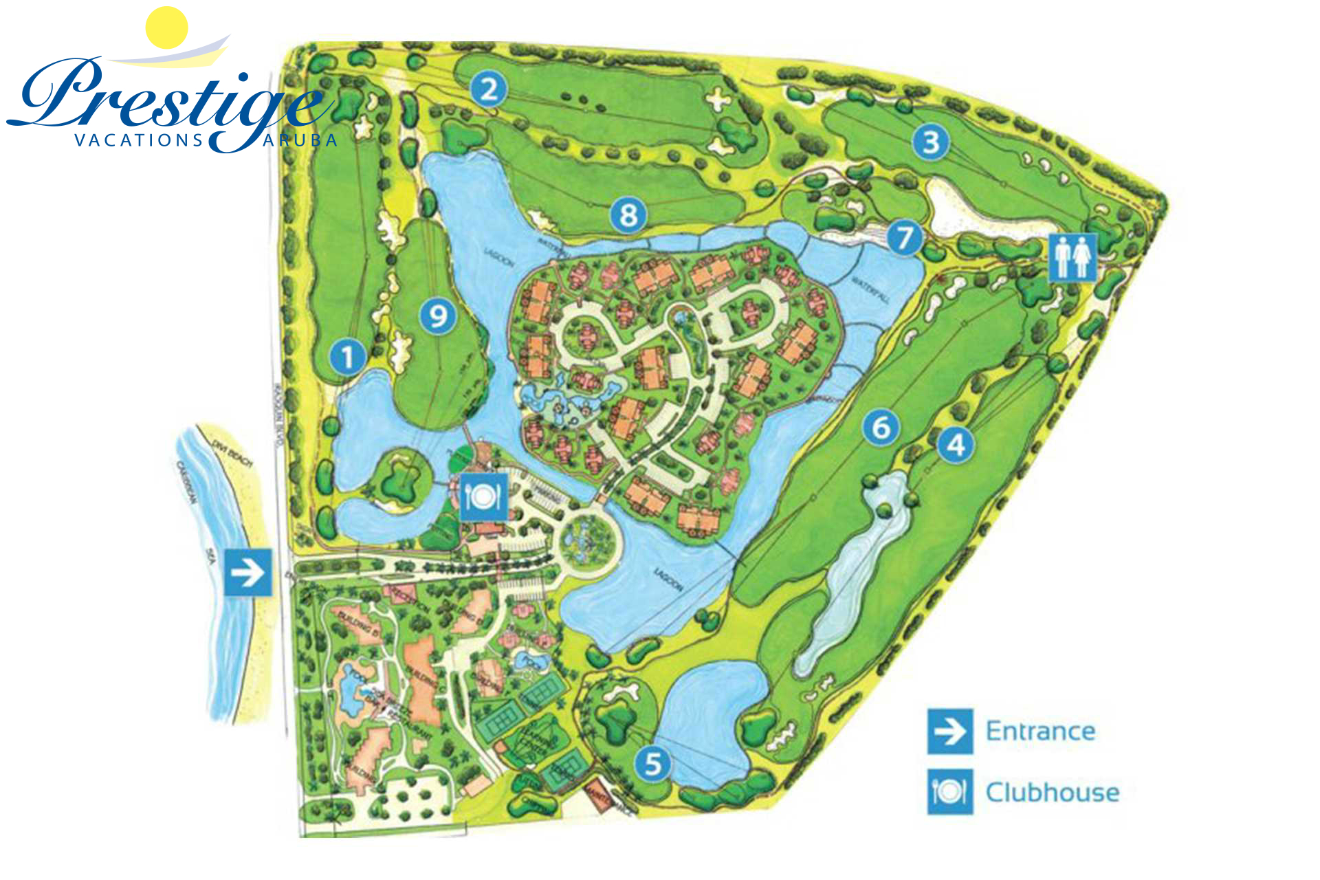 The Links at Divi Aruba golf course map