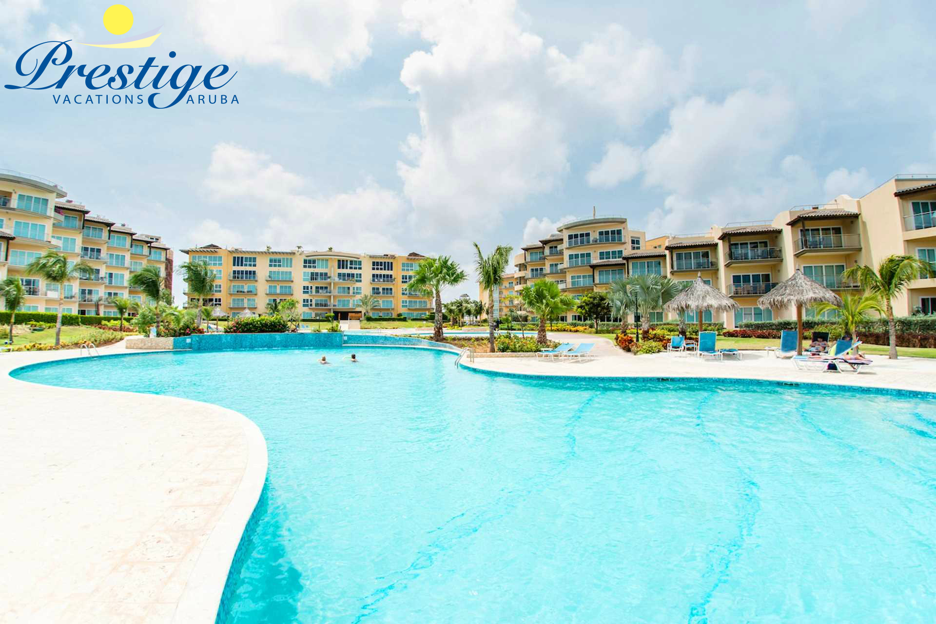 Oceania Deluxe Beachfront Condo resort - large swimming pool area