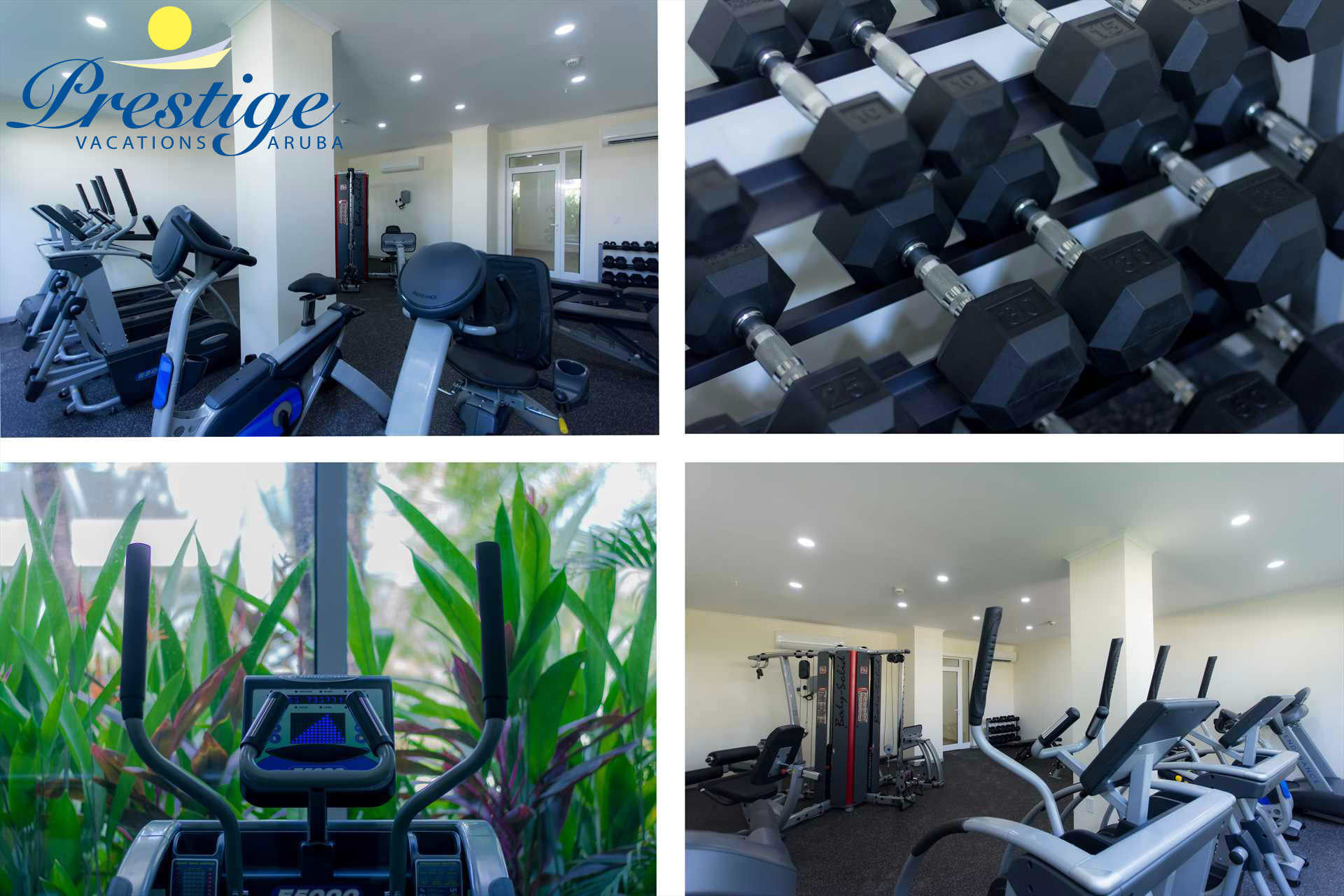 The gym room at the LeVent Beach Aruba Resort
