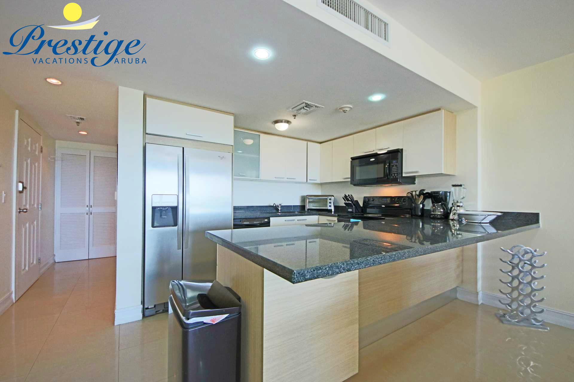 Fully equipped open kitchen