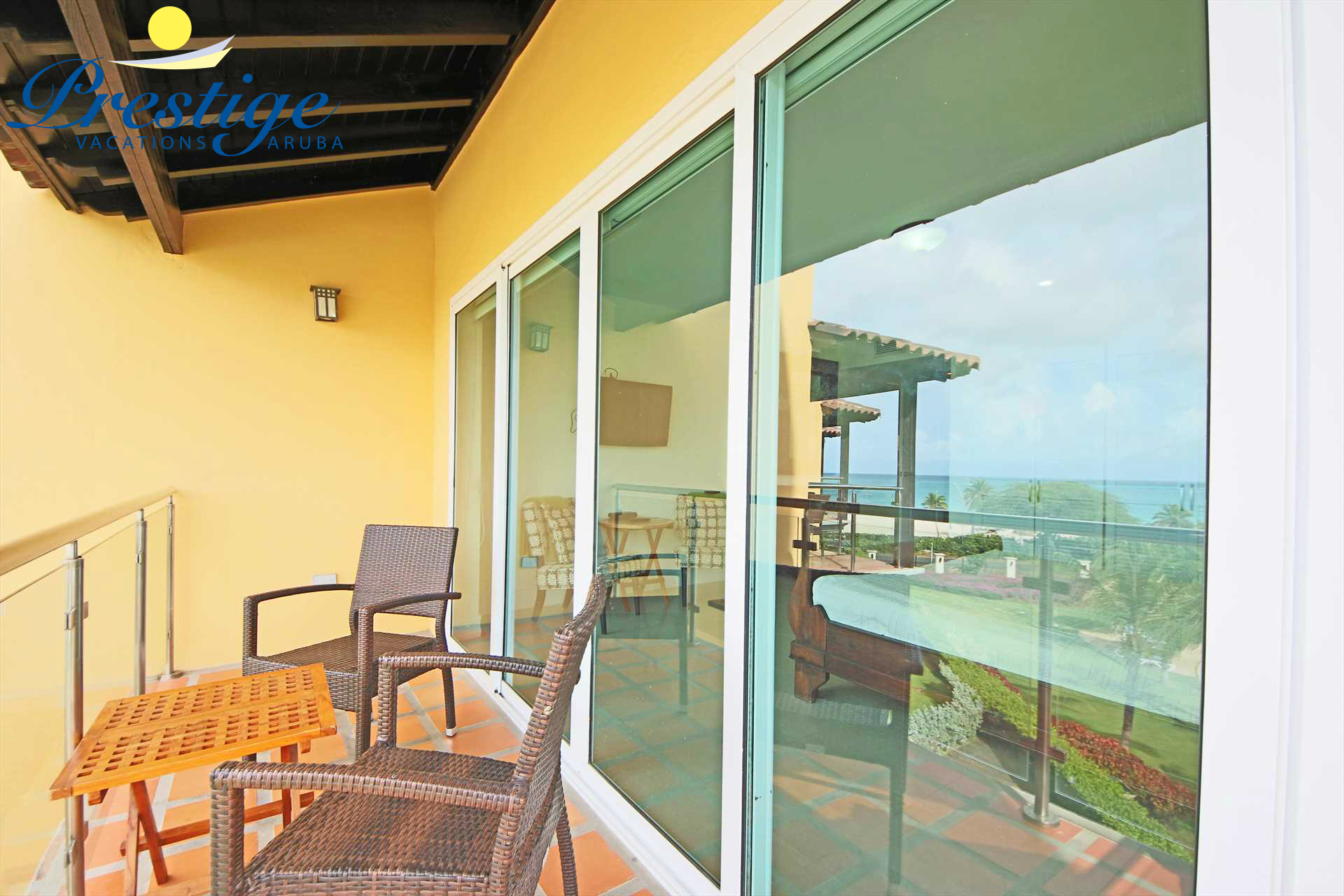 Enjoy your morning coffee on the master bedroom balcony