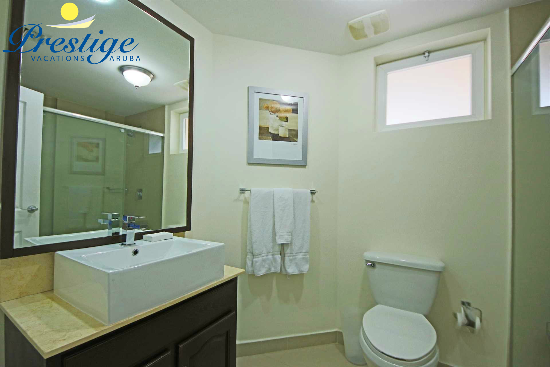 Third bathroom with a shower located in the corridor