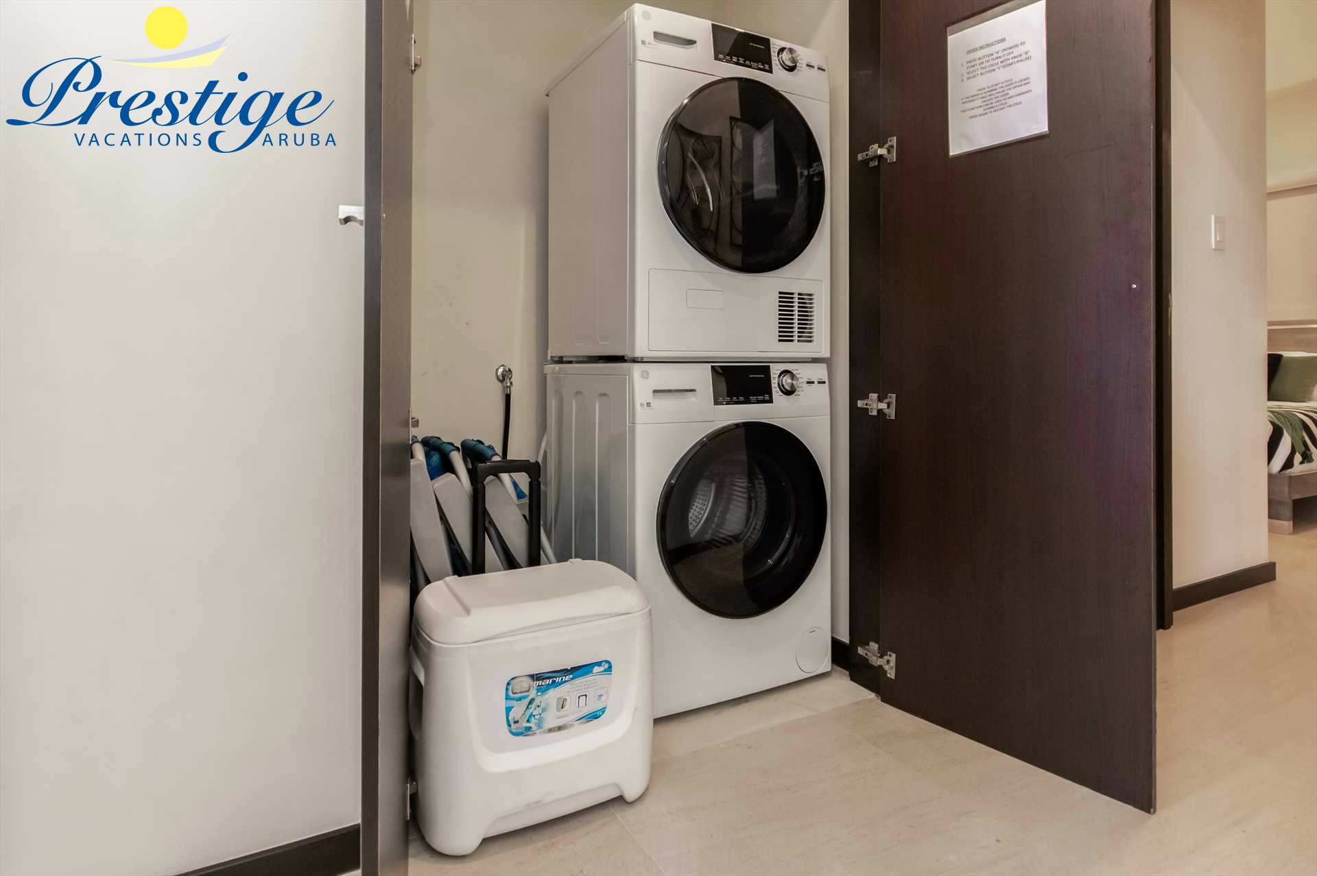 In-room washer and dryer are all available for your comfort