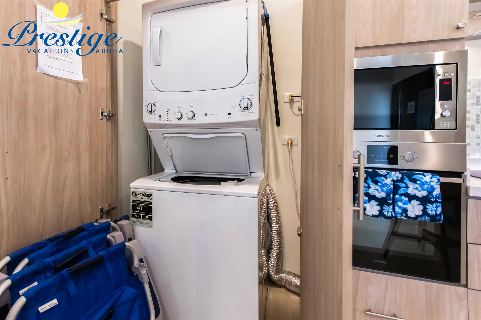 In-room washer/dryer and beach chairs are all available for your comfort