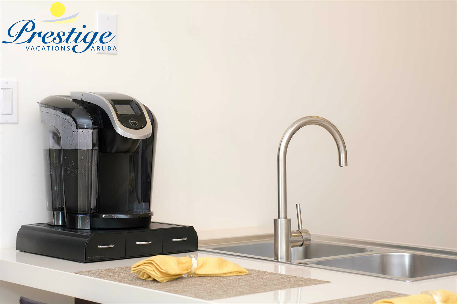 This condo features a Keurig coffee maker (bring your own K-Cup to Aruba)!