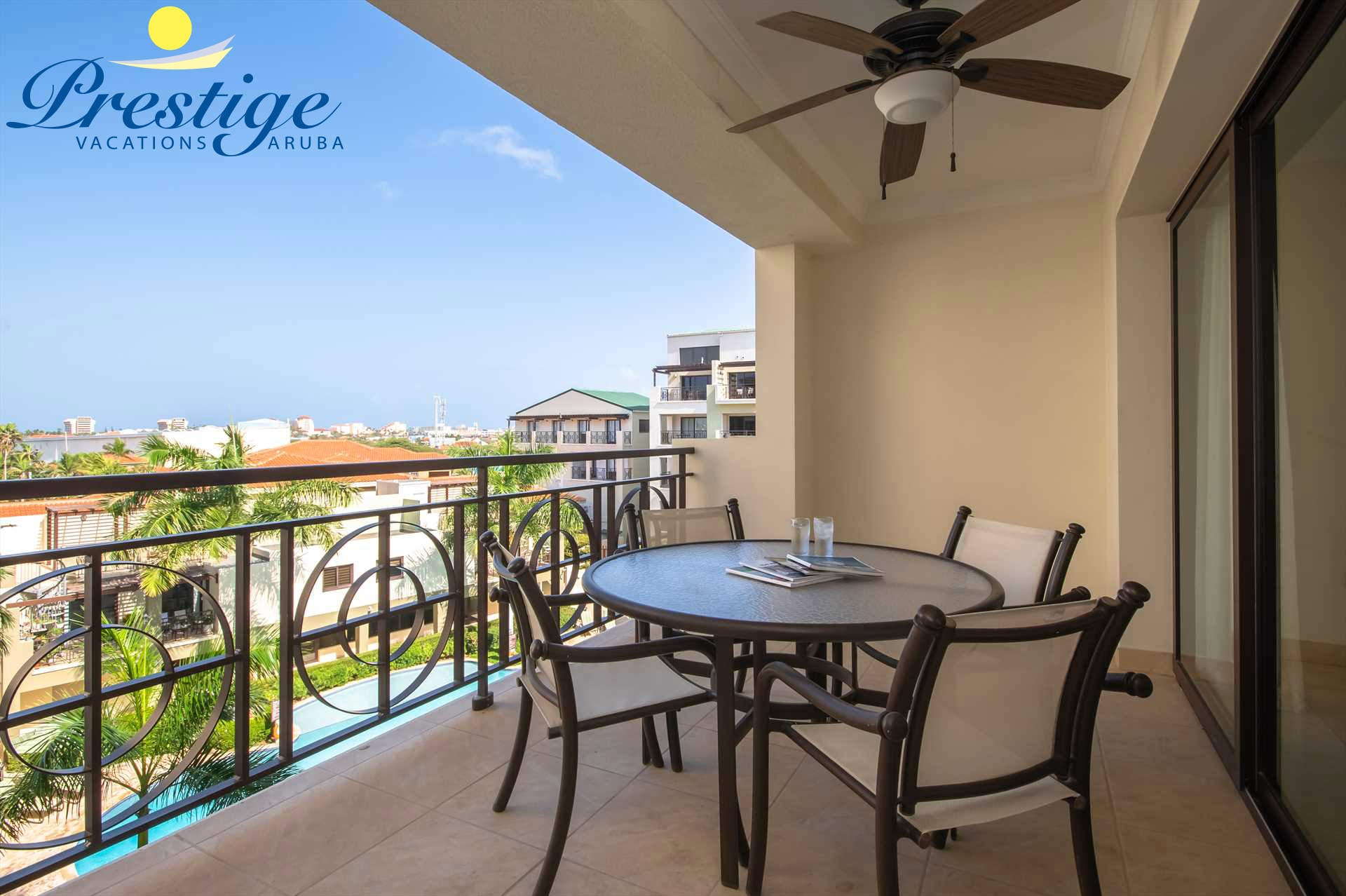 The balcony makes for the perfect setting to enjoy Aruba's weather