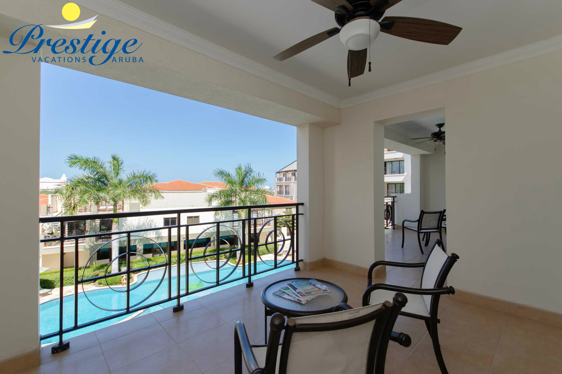 Your spacious double balcony makes for the perfect place to spend your day and night!