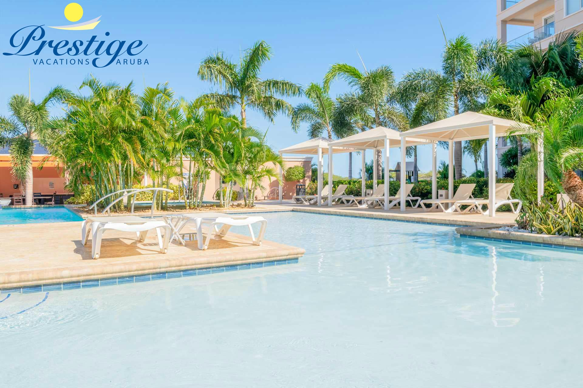An adult and a children's swimming pool are available at LeVent Beach Resort Aruba