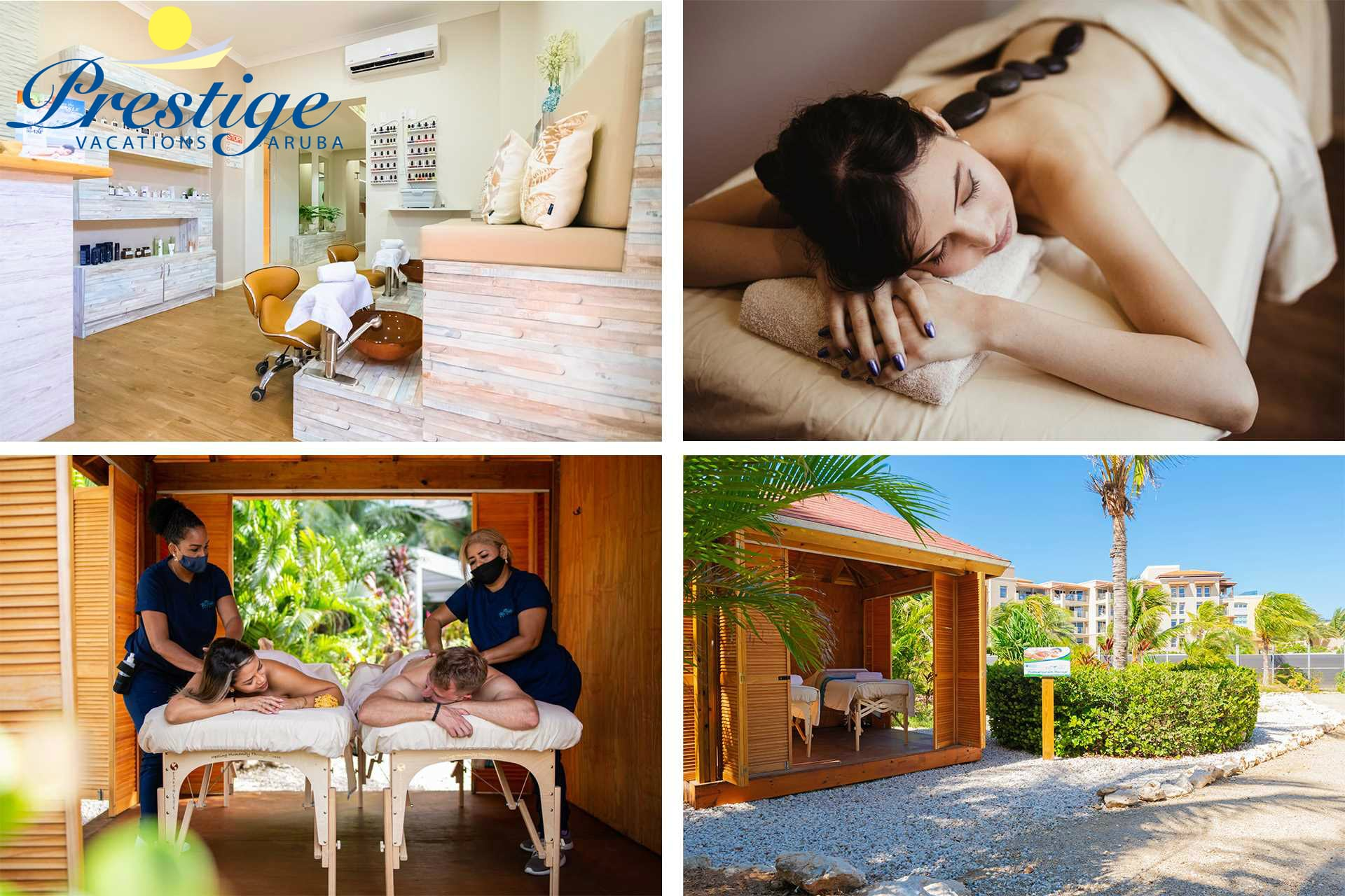 There is a day spa on-site: Blue Waters Day Spa, with in- and outdoor massage treatments!