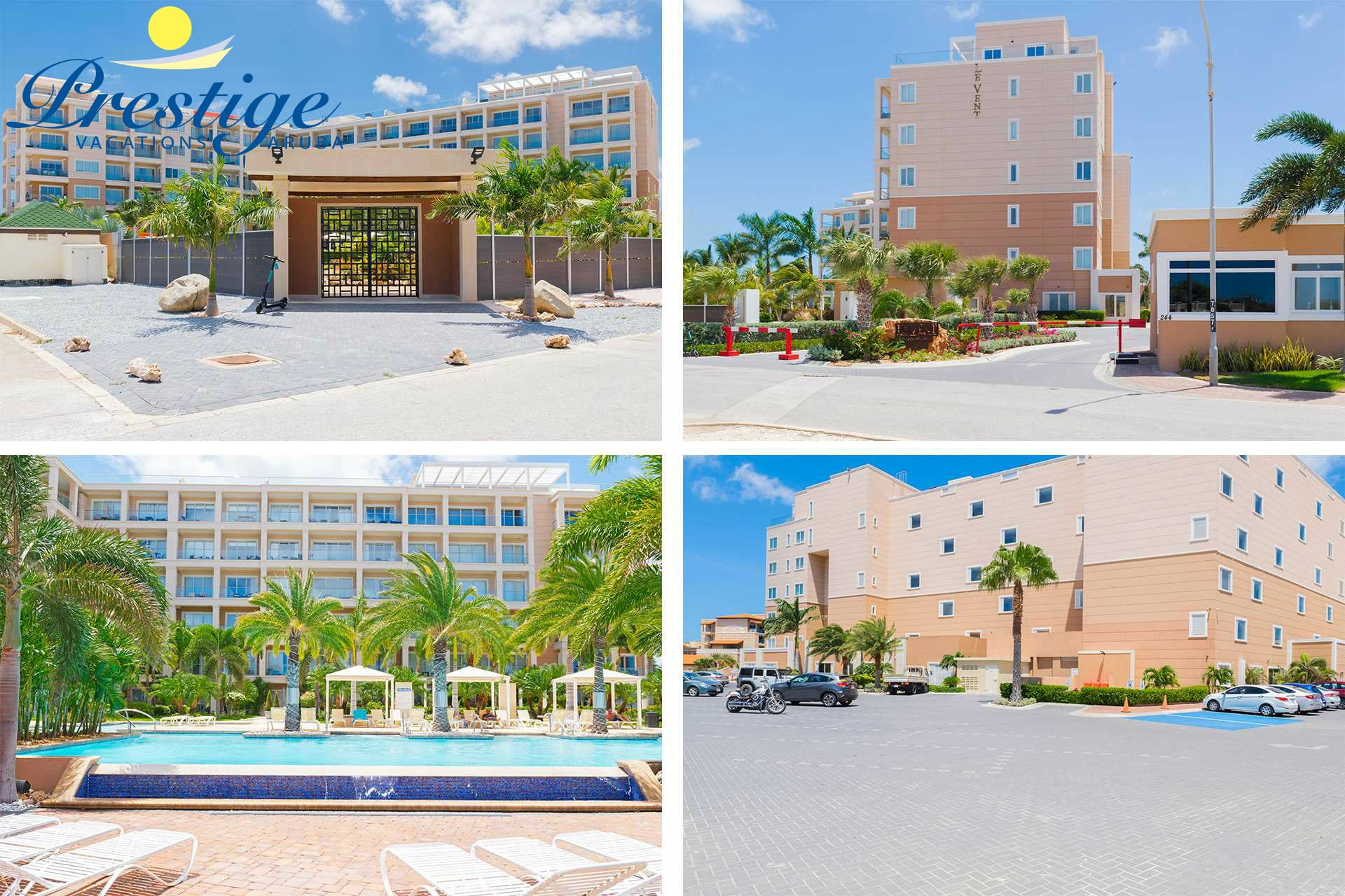 Ample free parking within the 24/7 security-gated resort