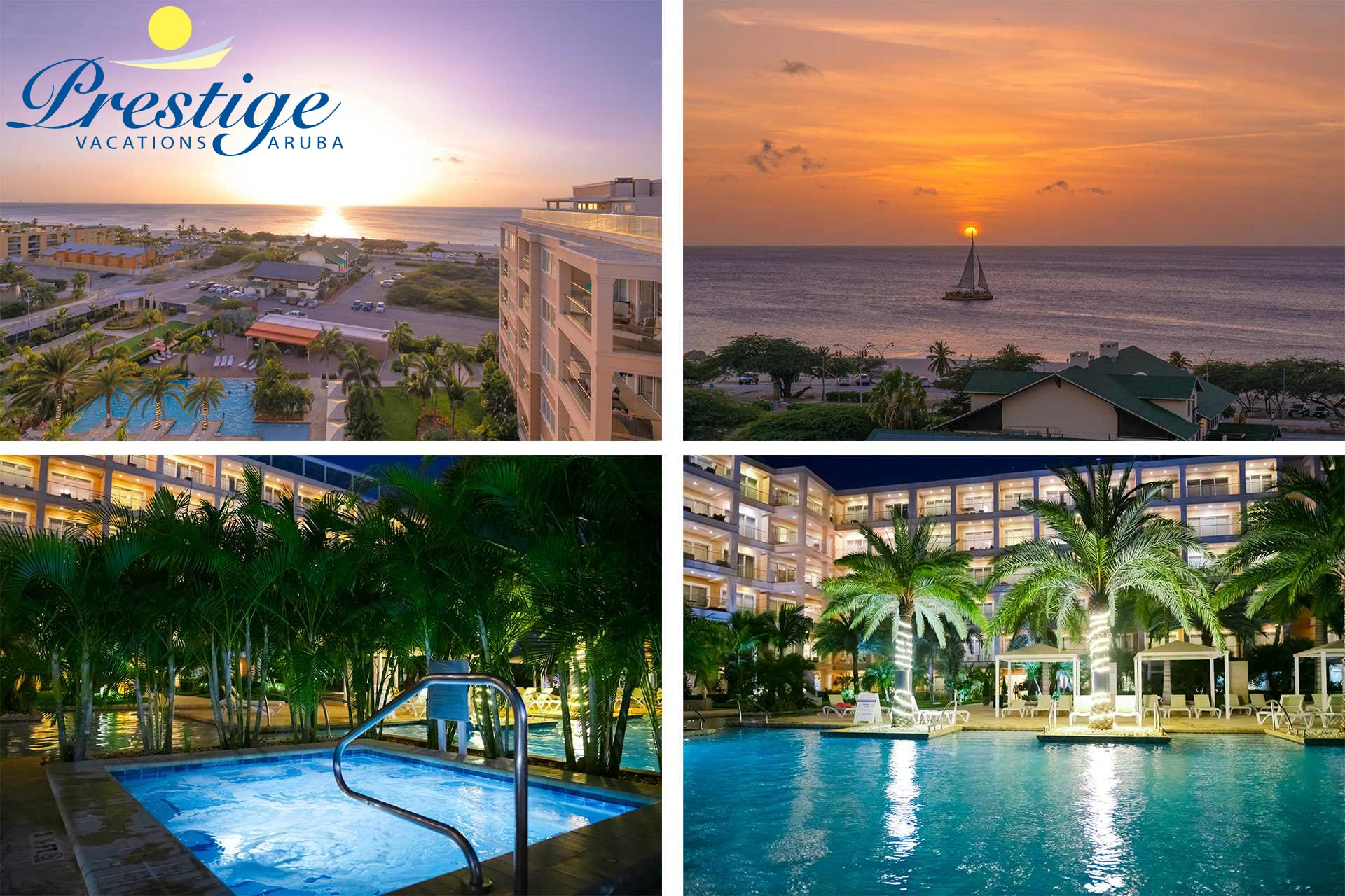 Enjoy the resort at night and some amazing sunsets from your balcony